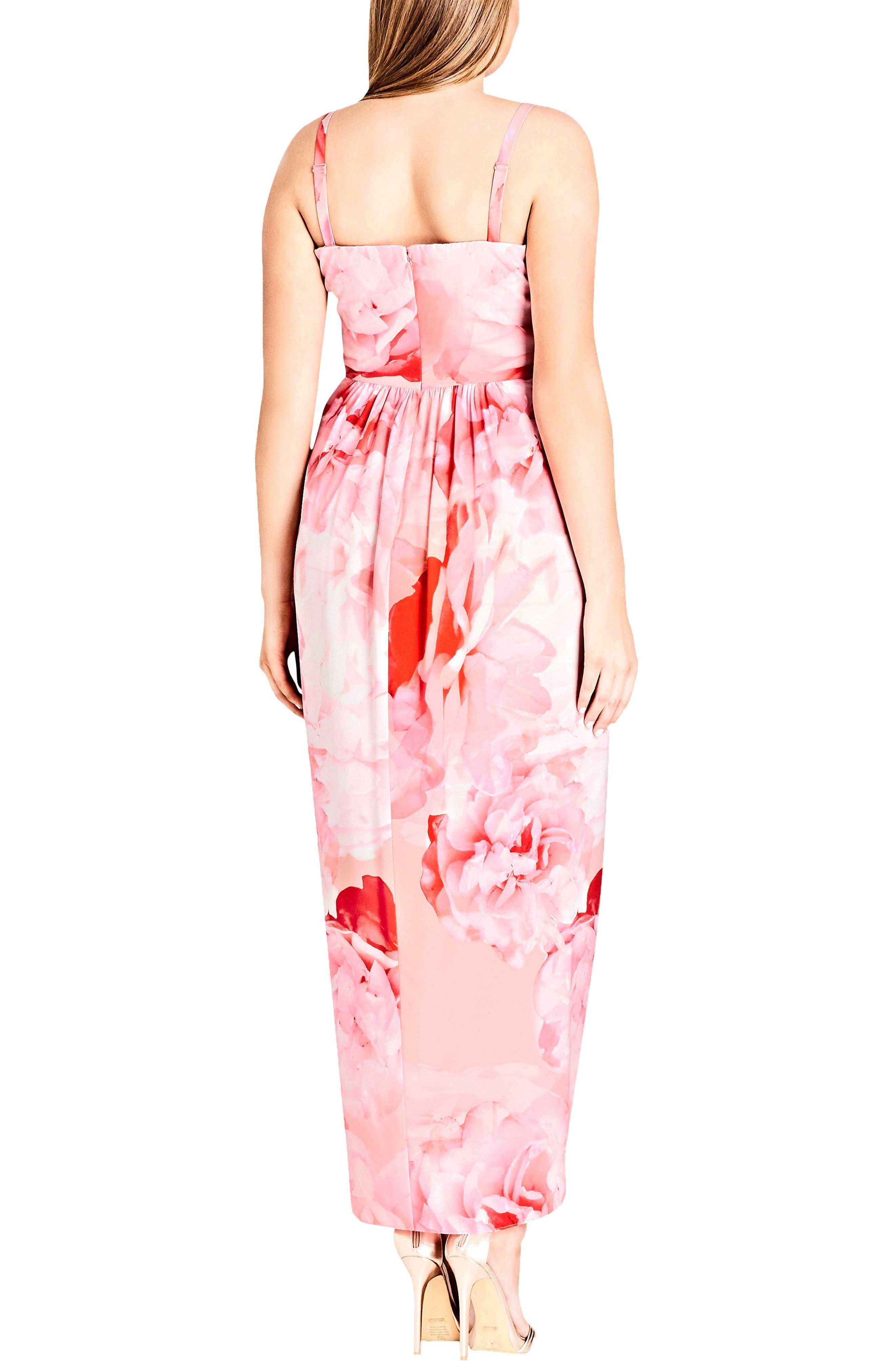 Girly Rose Strapless Maxi Dress,                             Alternate thumbnail 2, color,                             Girly Rose