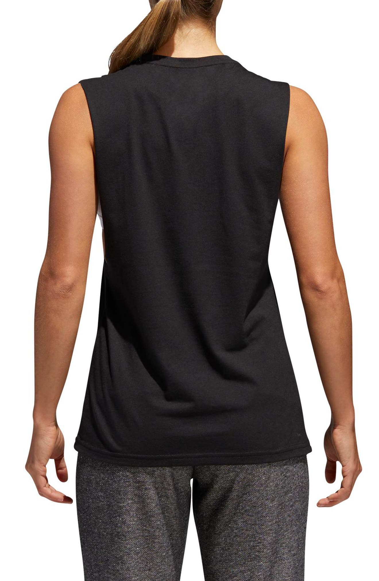 Muscle Logo Tank,                             Alternate thumbnail 2, color,                             Black/ Multicolor