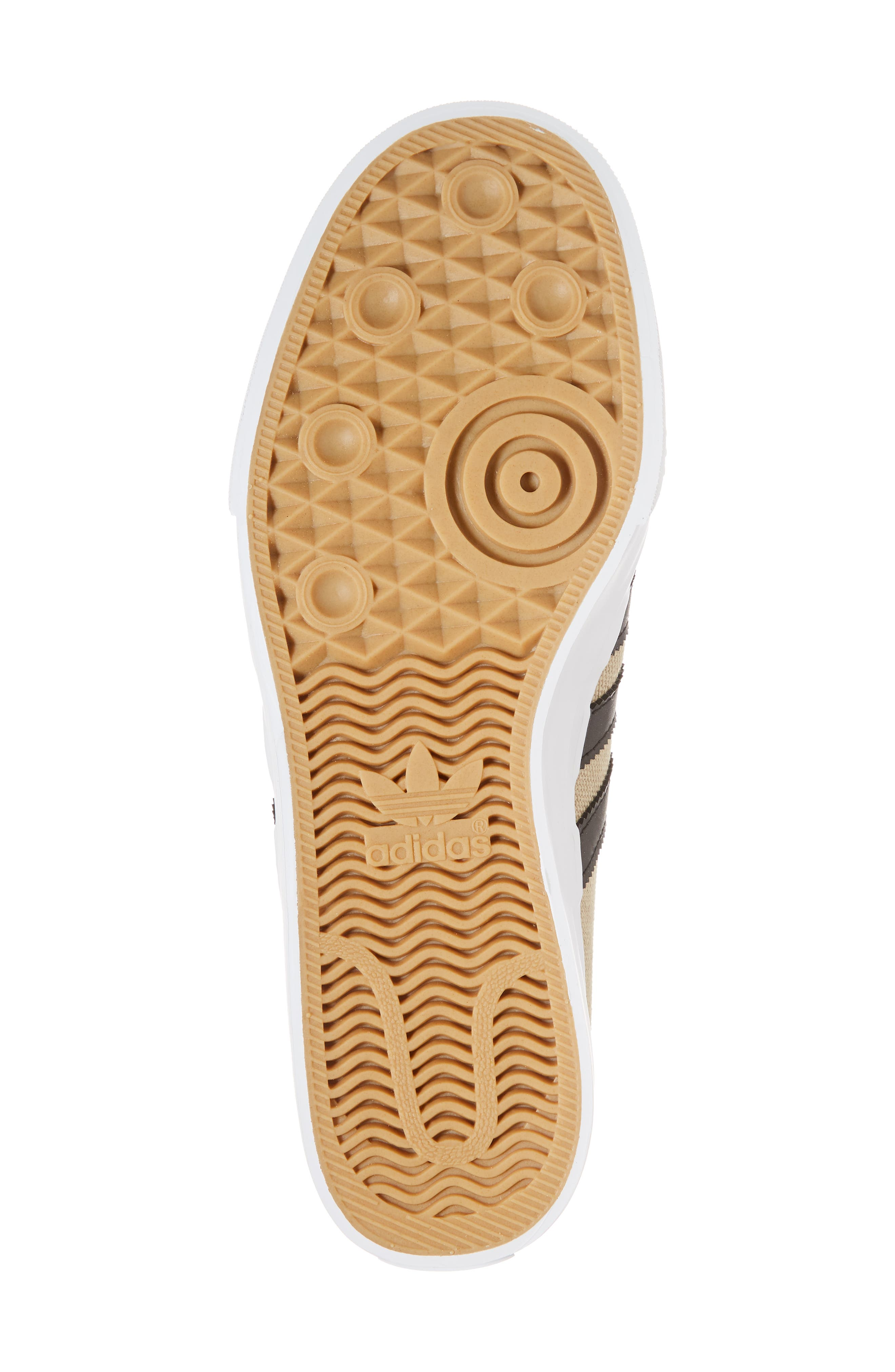 Adiease Premiere Skateboarding Sneaker,                             Alternate thumbnail 6, color,                             Gold/ Core Black/ White