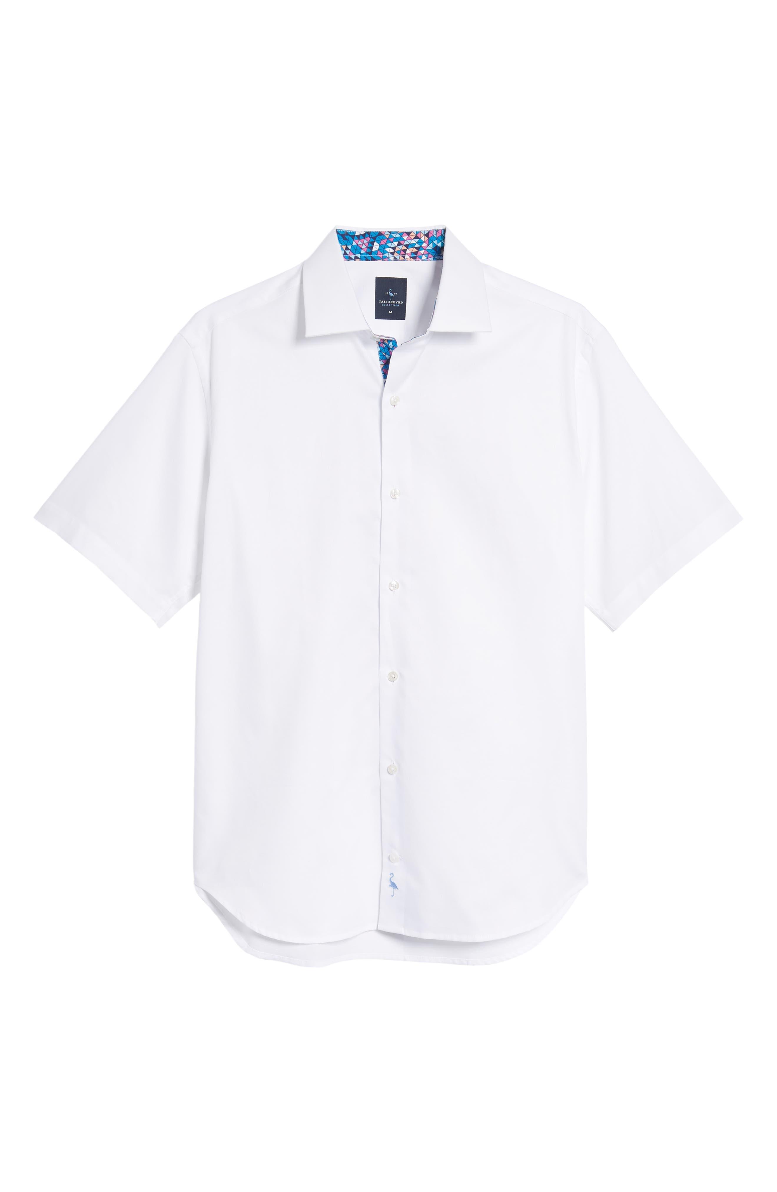 Abbott Regular Fit Sport Shirt,                             Alternate thumbnail 6, color,                             White