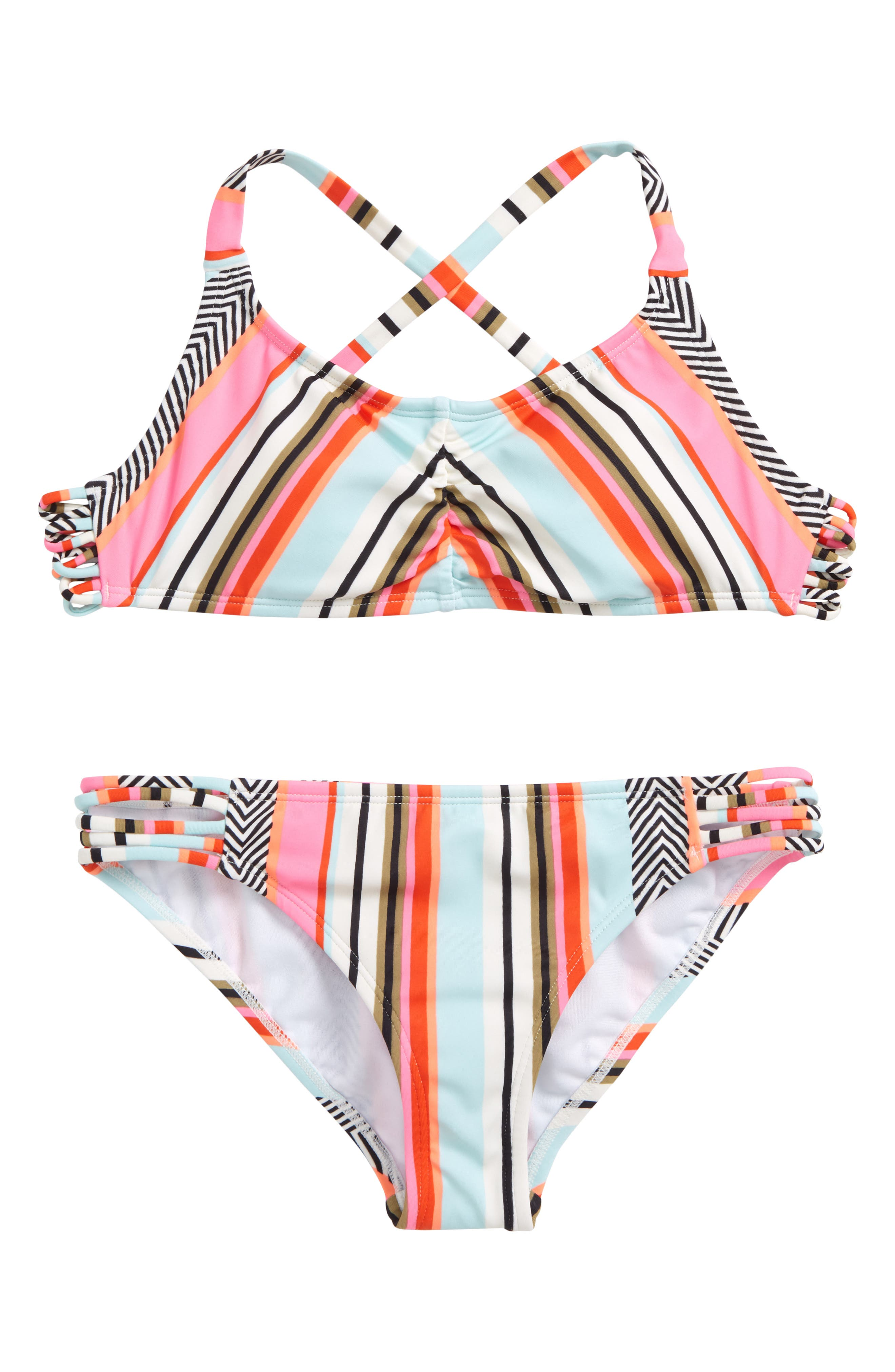 Like That Crossback Two-Piece Swimsuit,                         Main,                         color, Multi