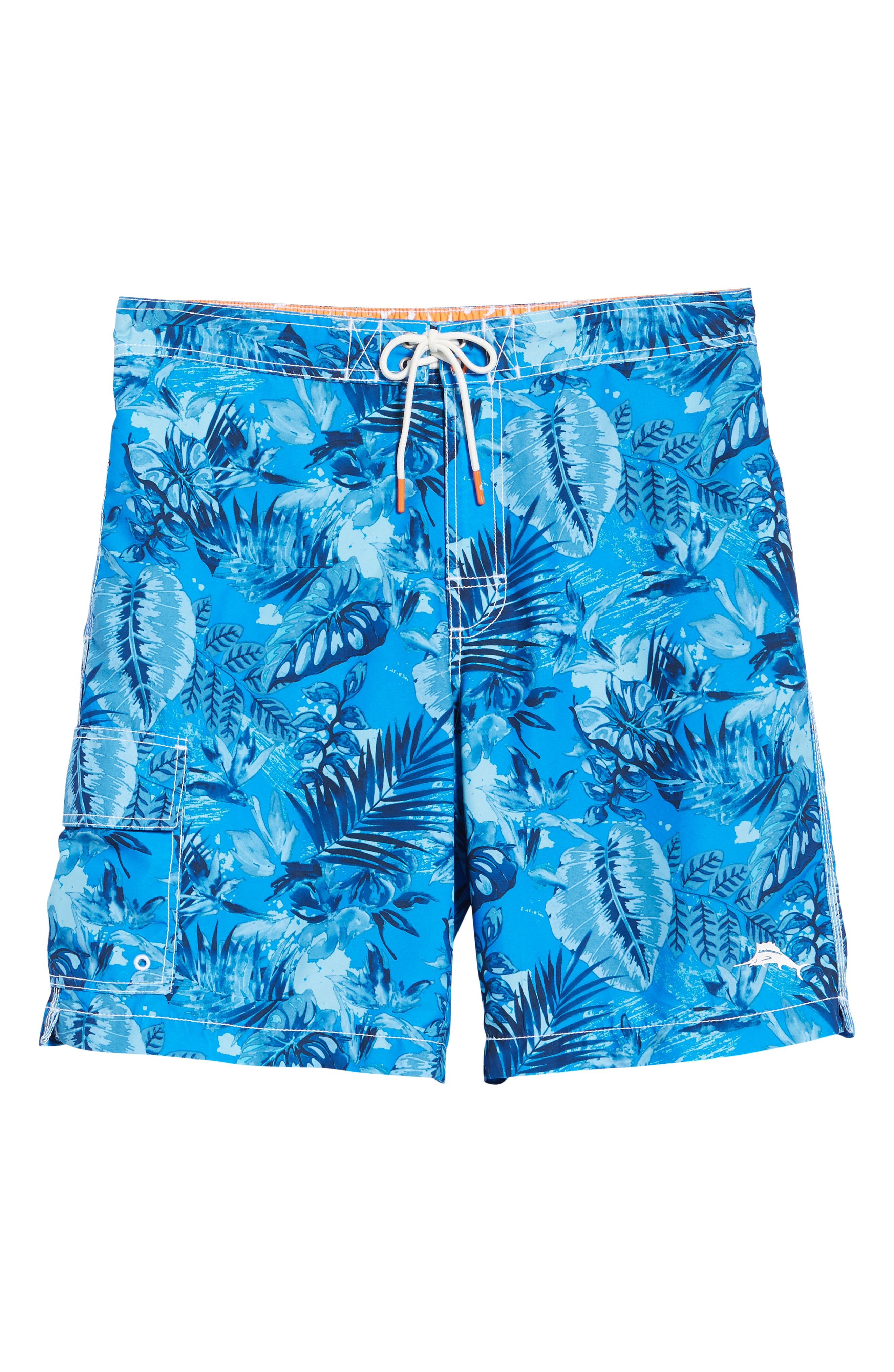 Baja Selva Shores Board Shorts,                             Alternate thumbnail 6, color,                             Blue Spark