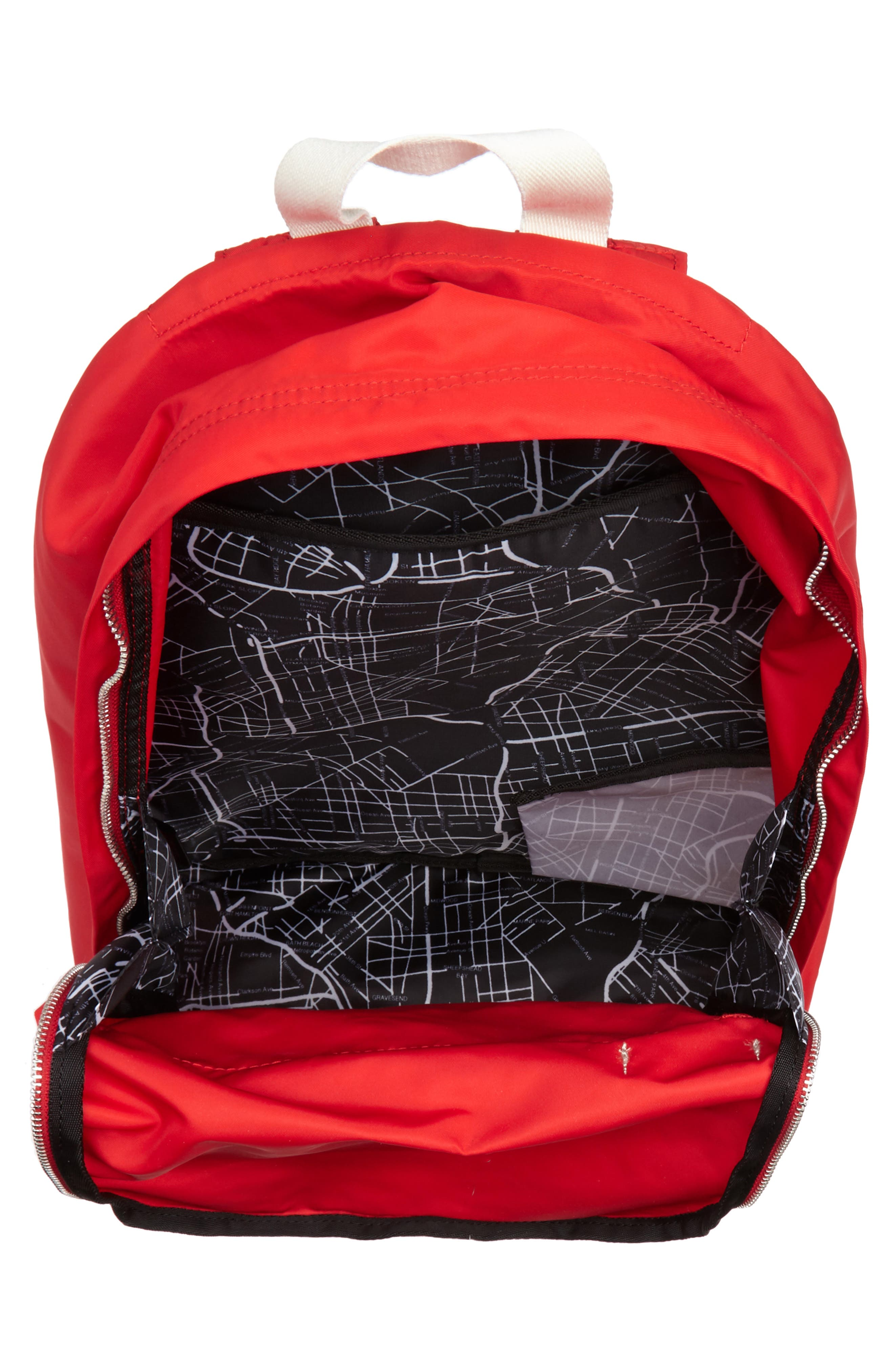 Heights Lorimer Nylon Backpack,                             Alternate thumbnail 4, color,                             Red