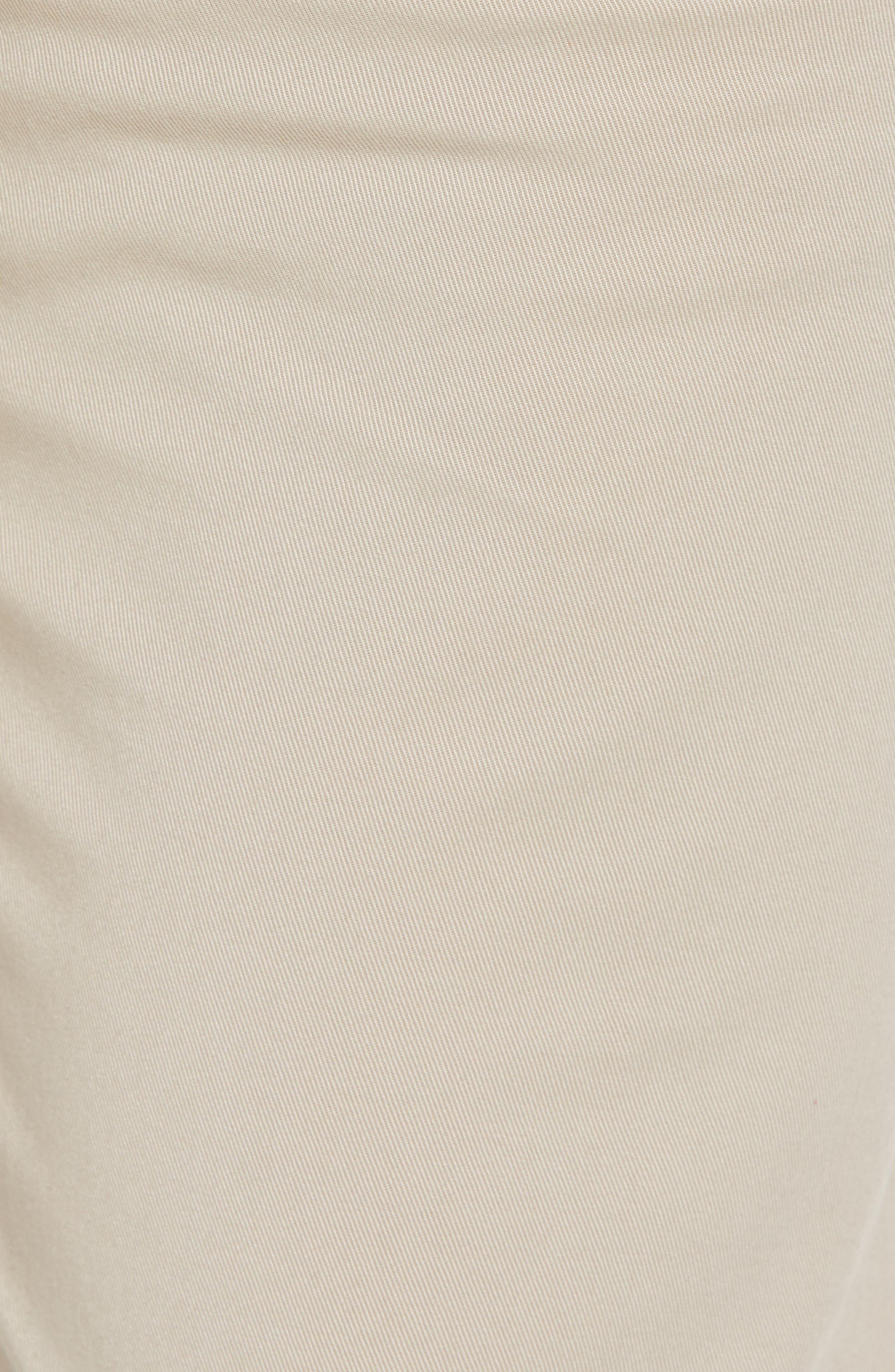 Rice Slim Fit Chino Pants,                             Alternate thumbnail 5, color,                             Brown