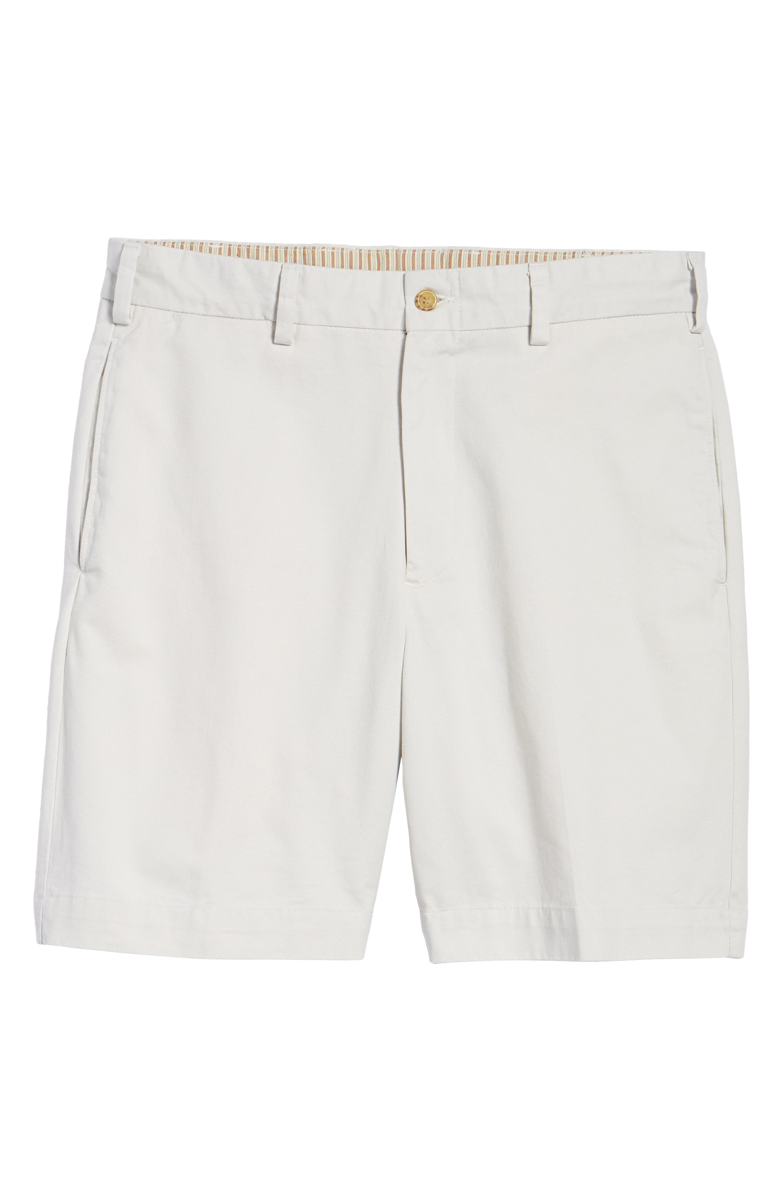 M2 Classic Fit Flat Front Vintage Twill Shorts,                             Alternate thumbnail 6, color,                             Stone