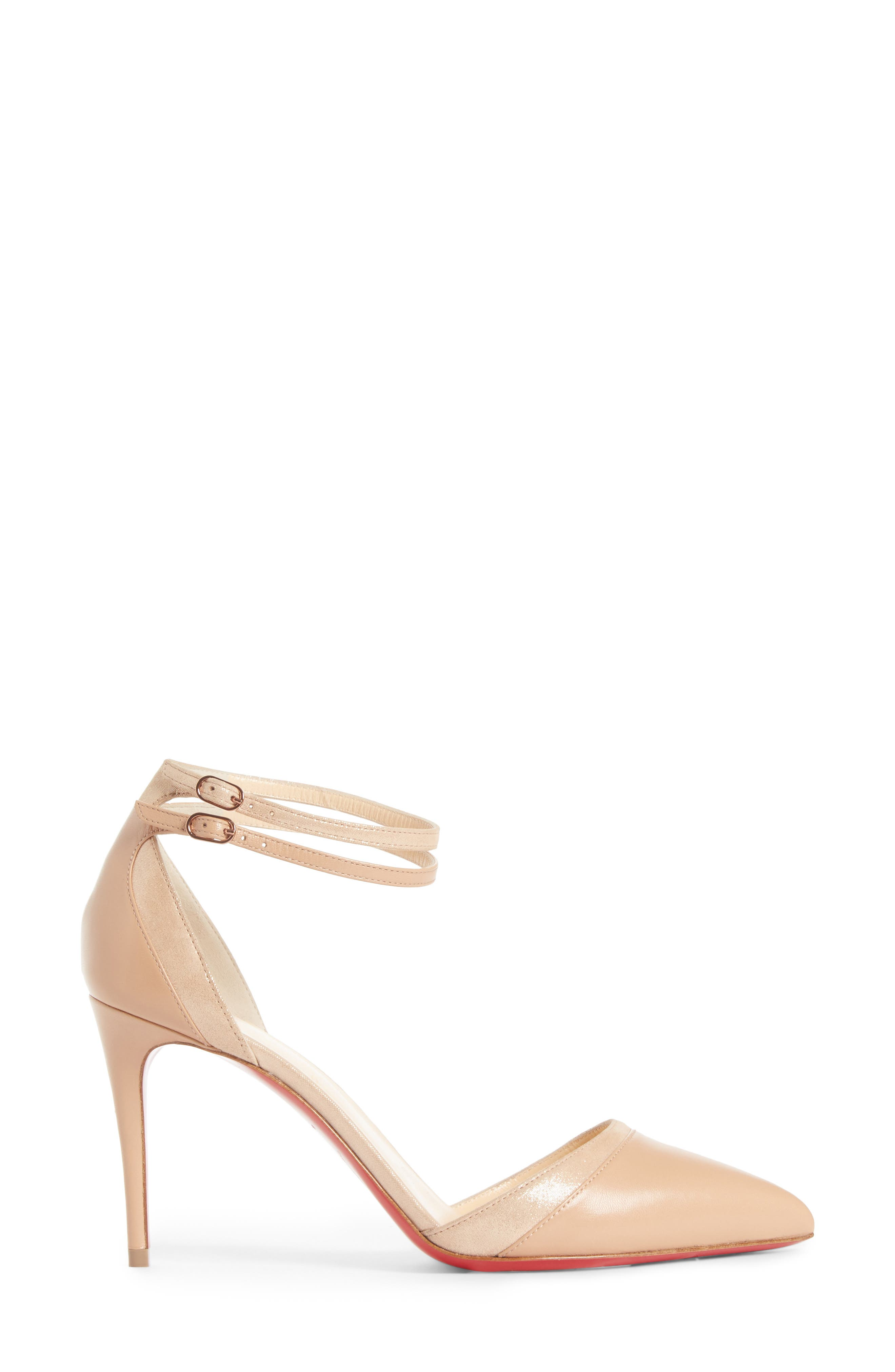 Uptown Ankle Strap Pump,                             Alternate thumbnail 3, color,                             Nude
