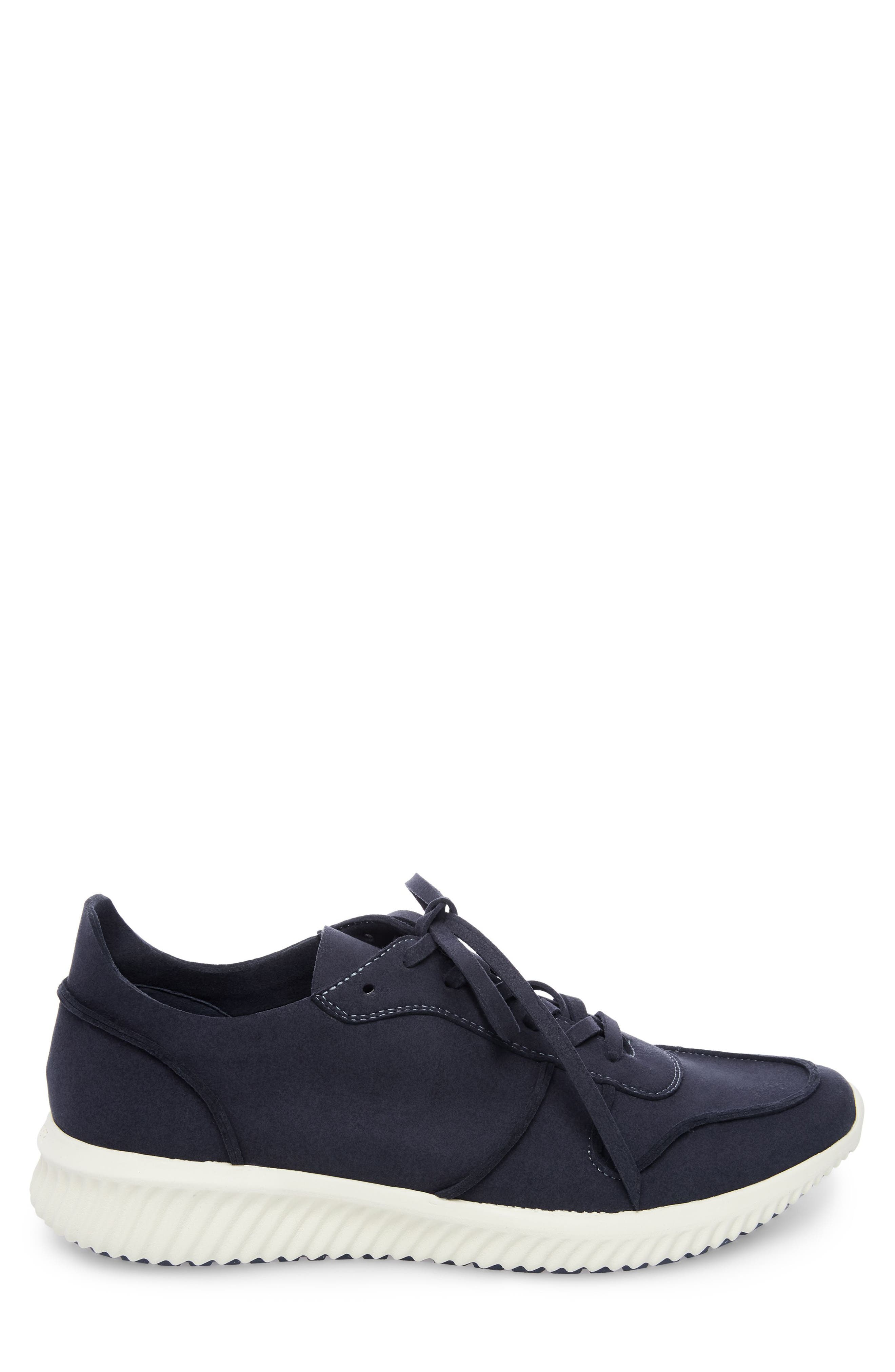 Rolf Low Top Sneaker,                             Alternate thumbnail 3, color,                             Navy Leather