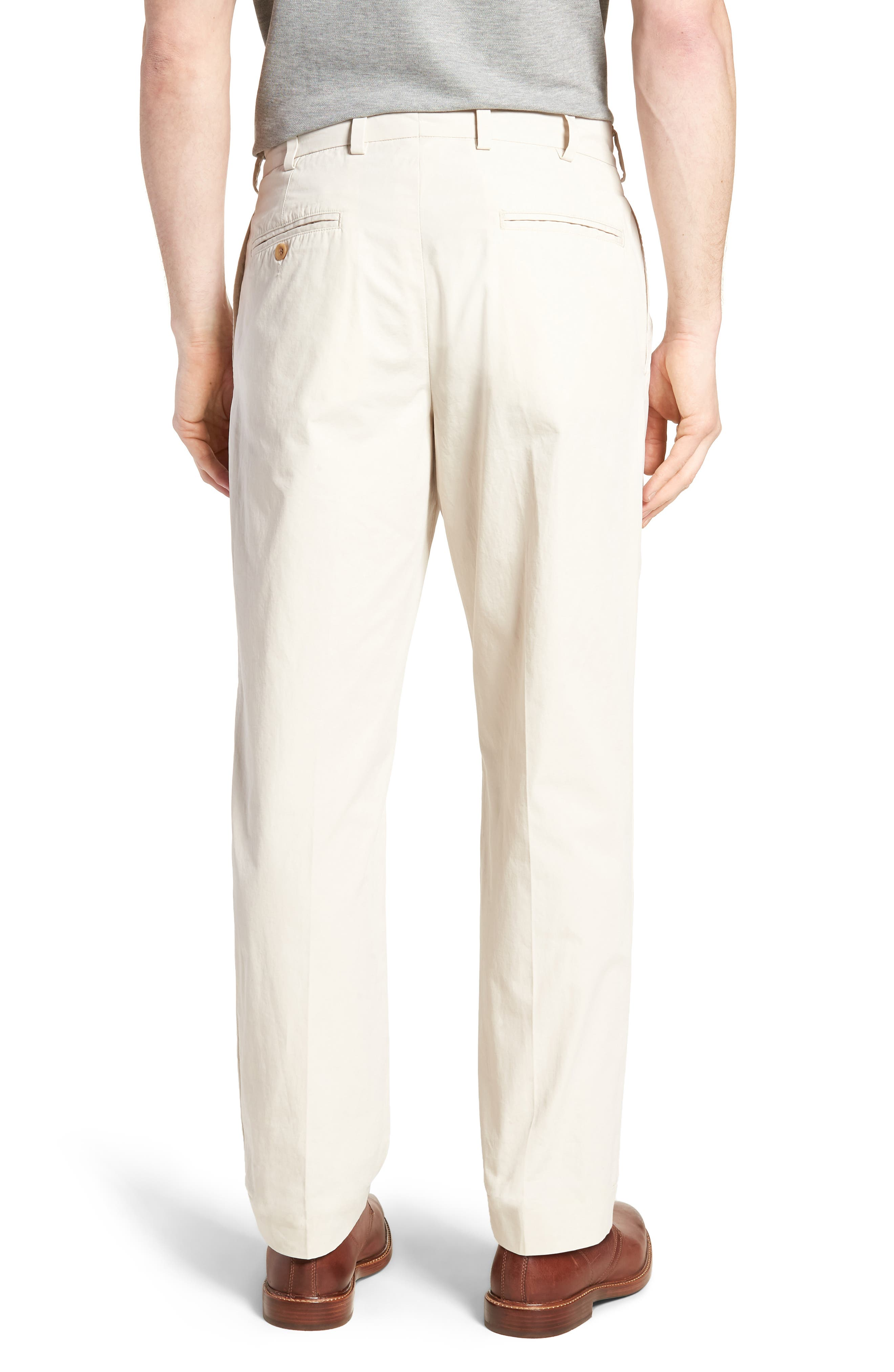 M2 Classic Fit Pleated Tropical Cotton Poplin Pants,                             Alternate thumbnail 2, color,                             Sand