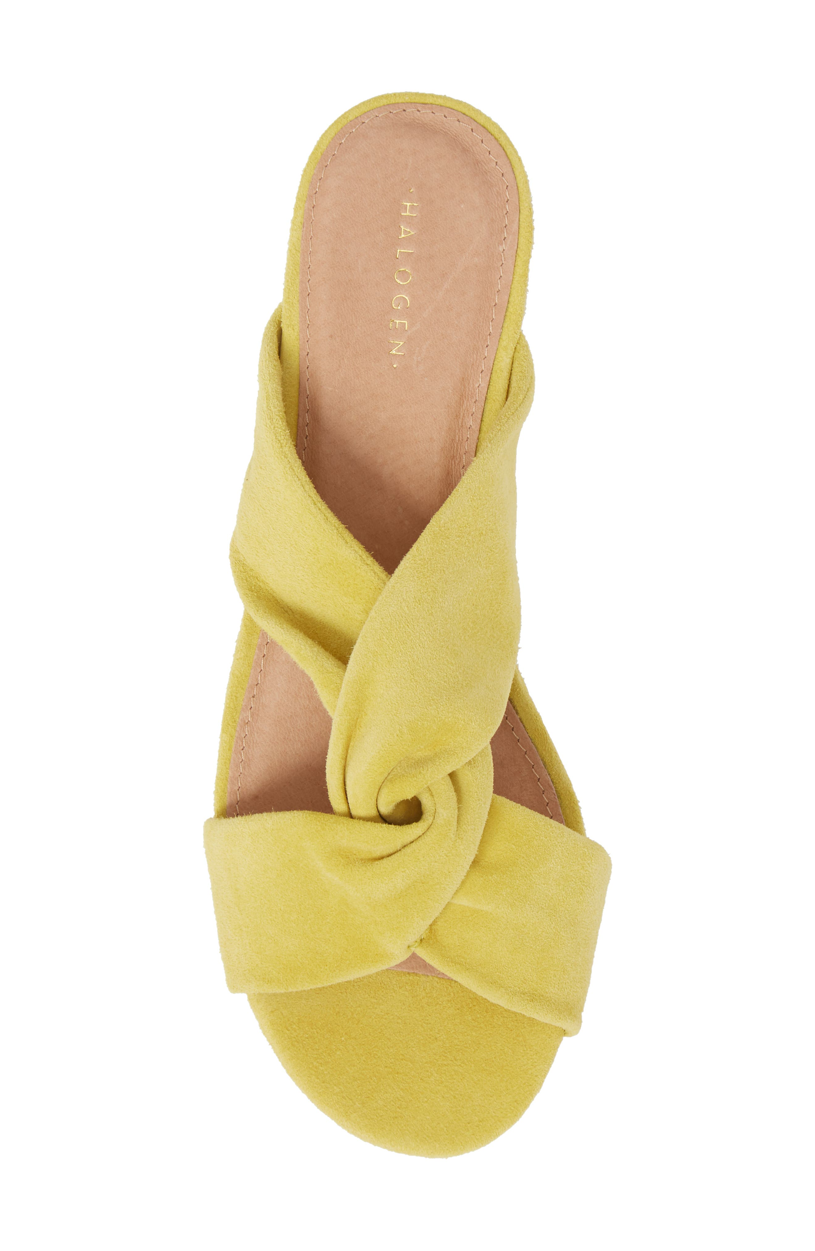 Andre Slide Sandal,                             Alternate thumbnail 5, color,                             Mustard Suede