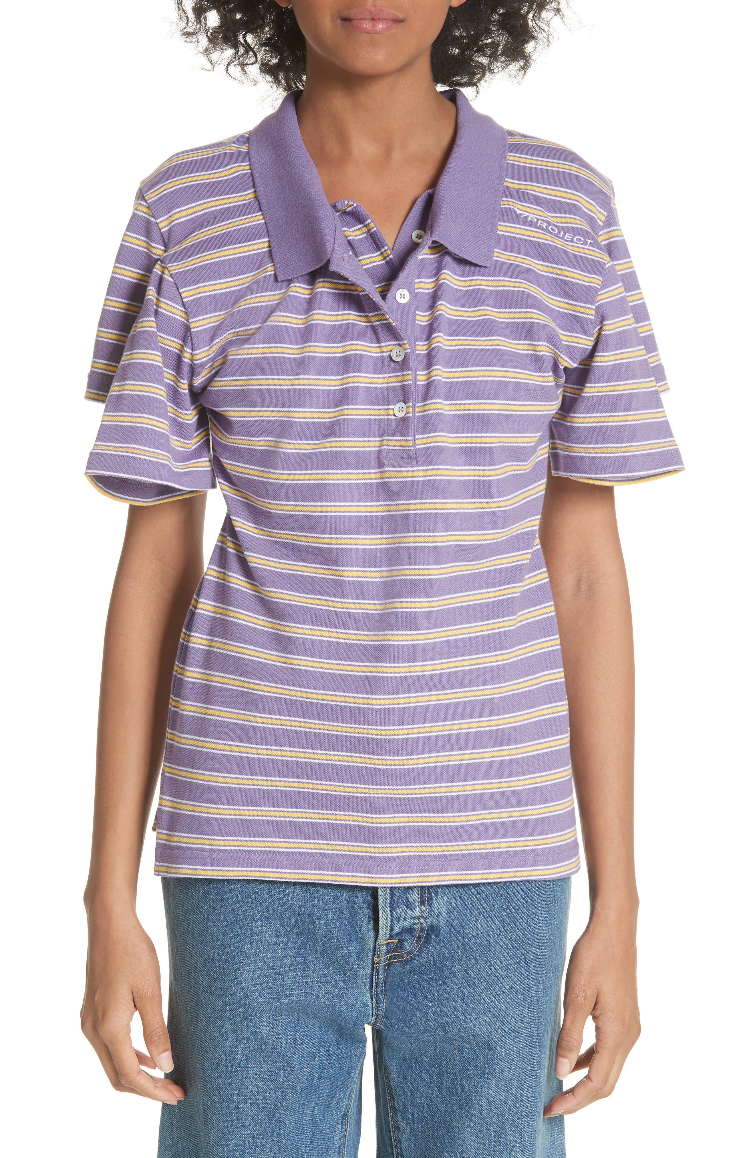 Y/Project Stripe Double Polo