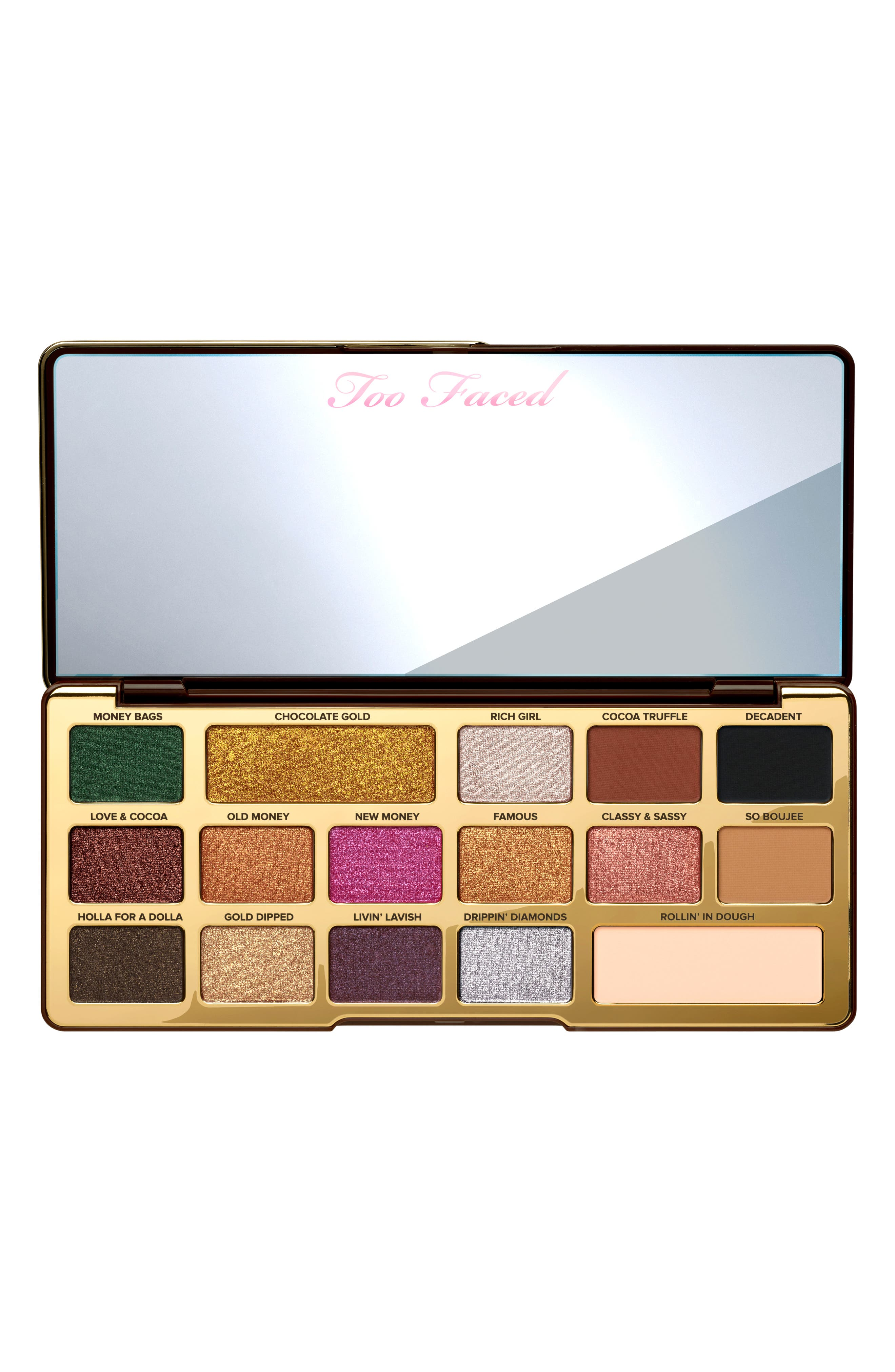 Chocolate Gold Eyeshadow Palette,                             Alternate thumbnail 7, color,                             No Color