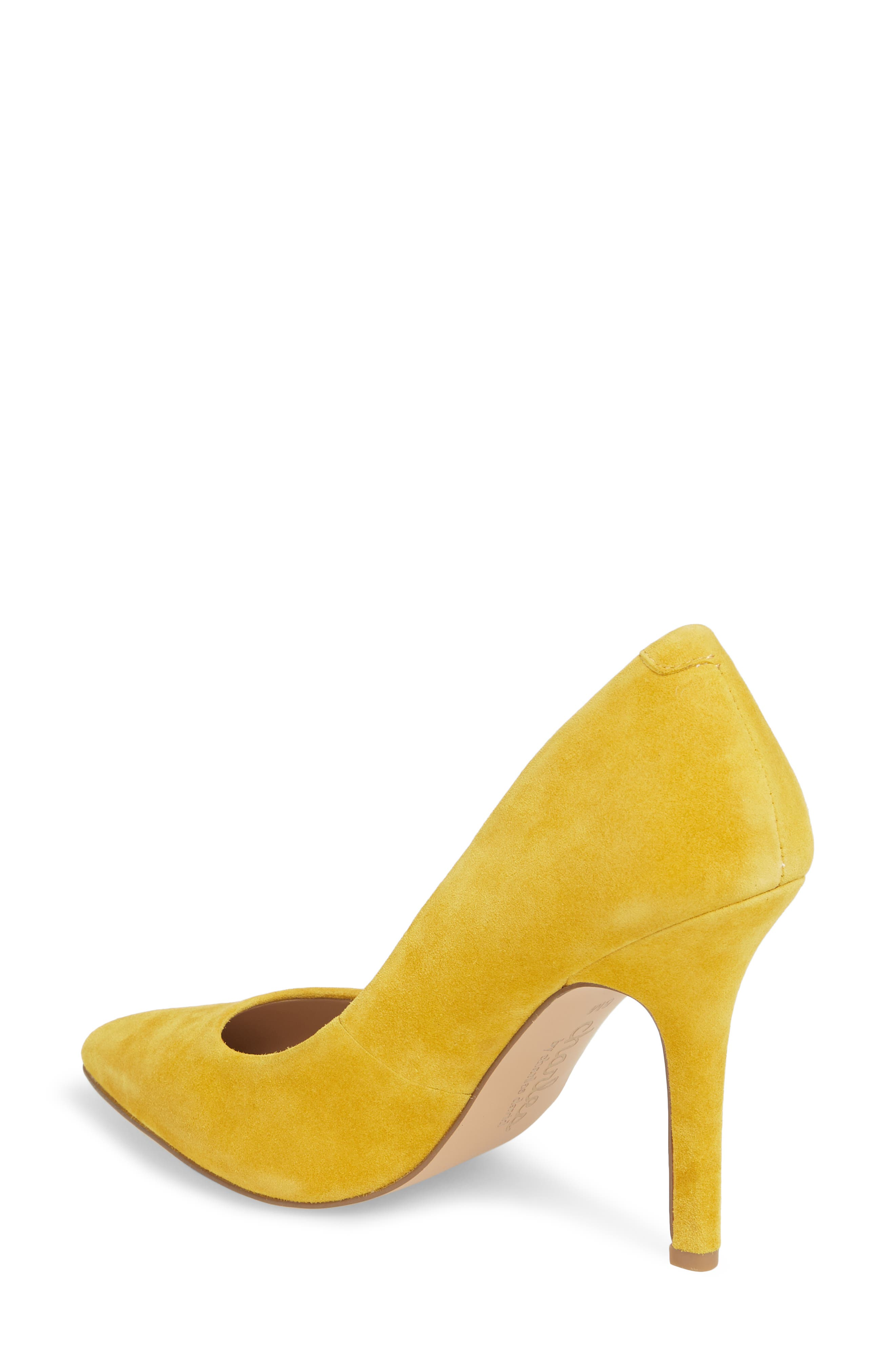 Maxx Pointy Toe Pump,                             Alternate thumbnail 2, color,                             Canary Suede