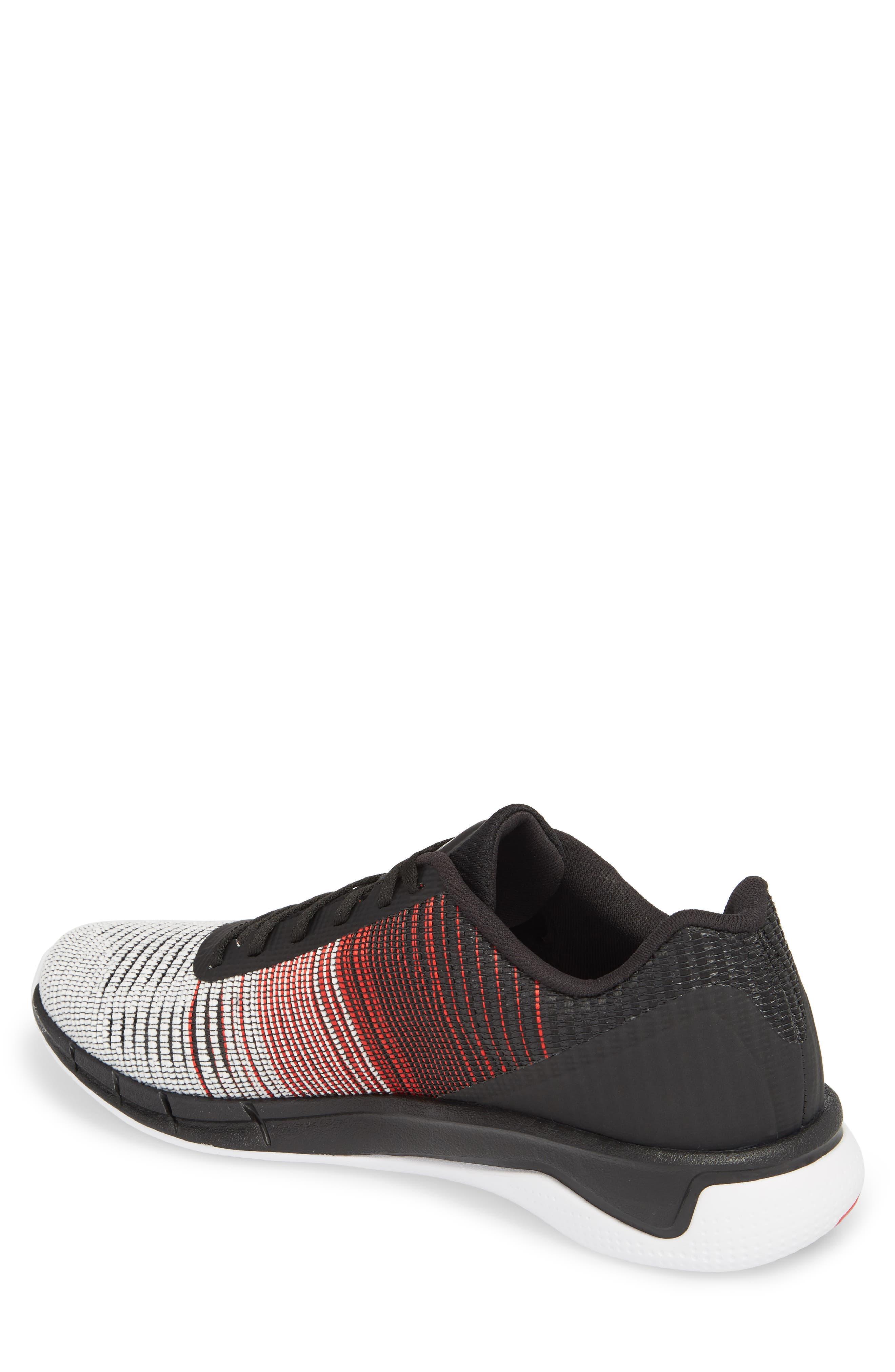 Fast Flexweave<sup>™</sup> Running Shoe,                             Alternate thumbnail 2, color,                             White/ Primal Red/ Black