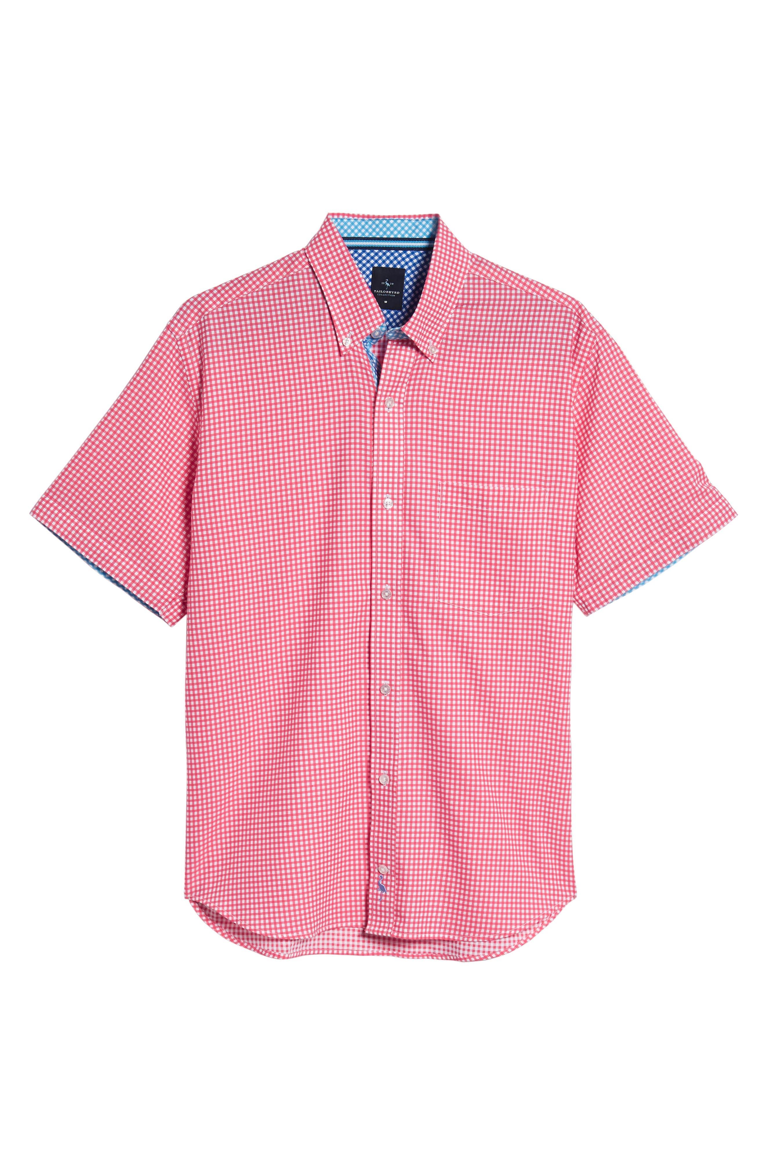 Aden Regular Fit Sport Shirt,                             Alternate thumbnail 6, color,                             Coral