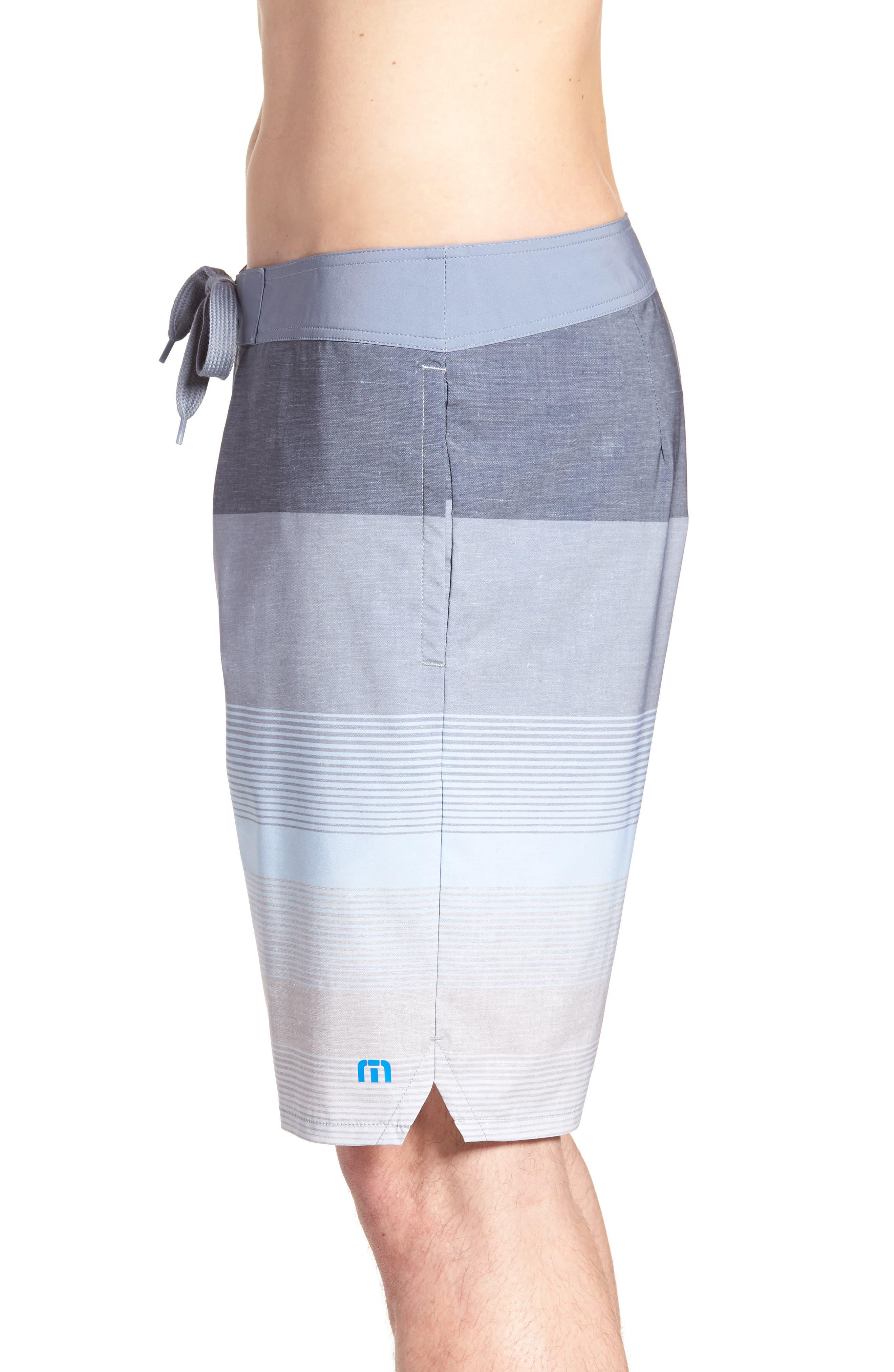 Seegrid Regular Fit Board Shorts,                             Alternate thumbnail 3, color,                             Heather Blue Nights