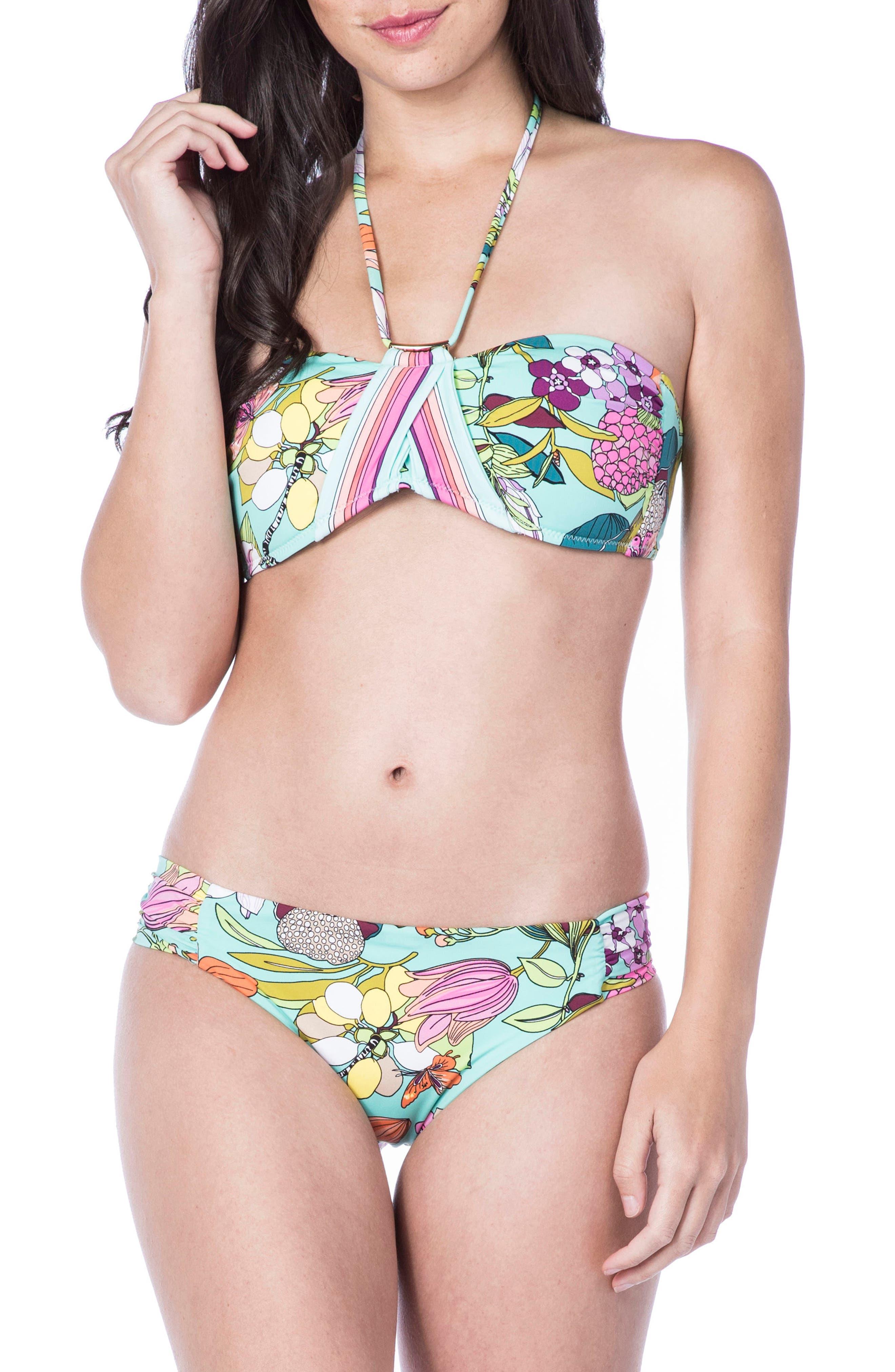 Key West Bandeau Bikini Top,                             Alternate thumbnail 3, color,                             Aqua