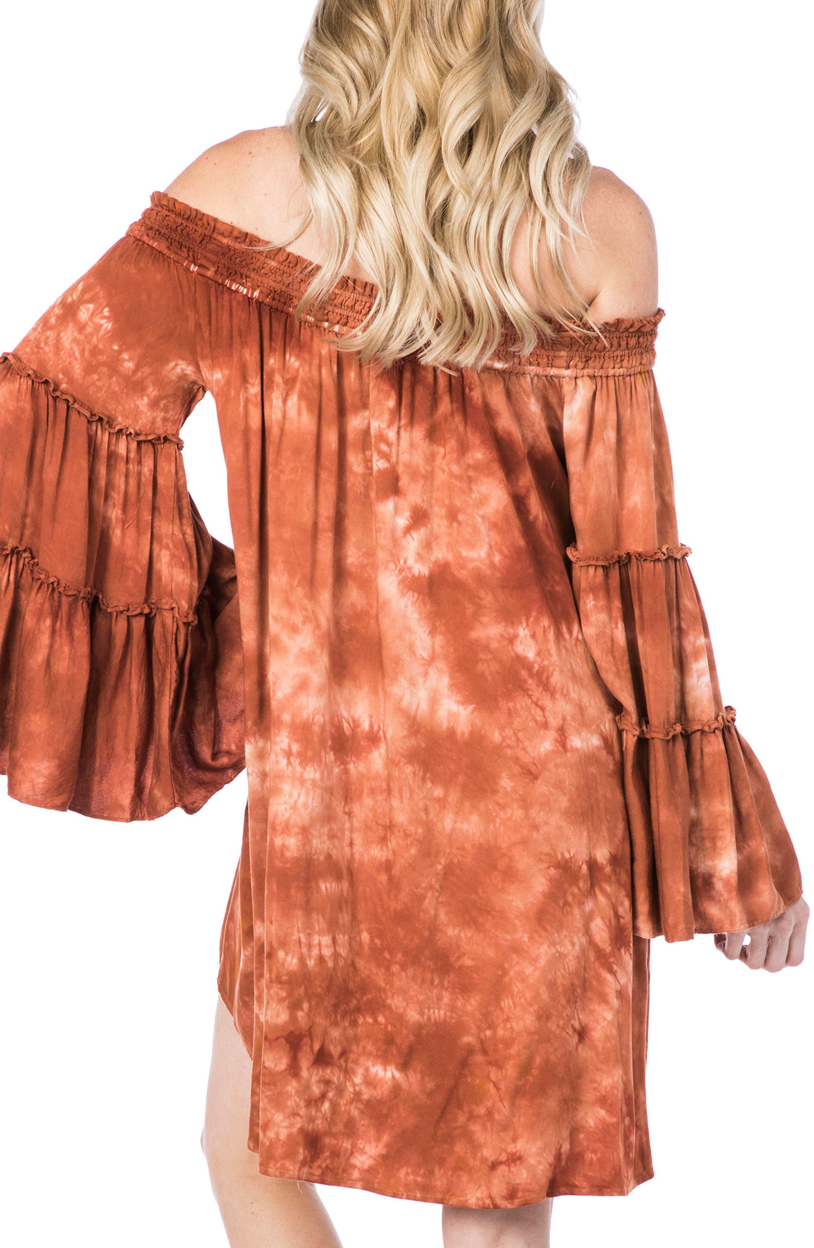 Paradise Cover-Up Dress,                             Alternate thumbnail 2, color,                             Spice