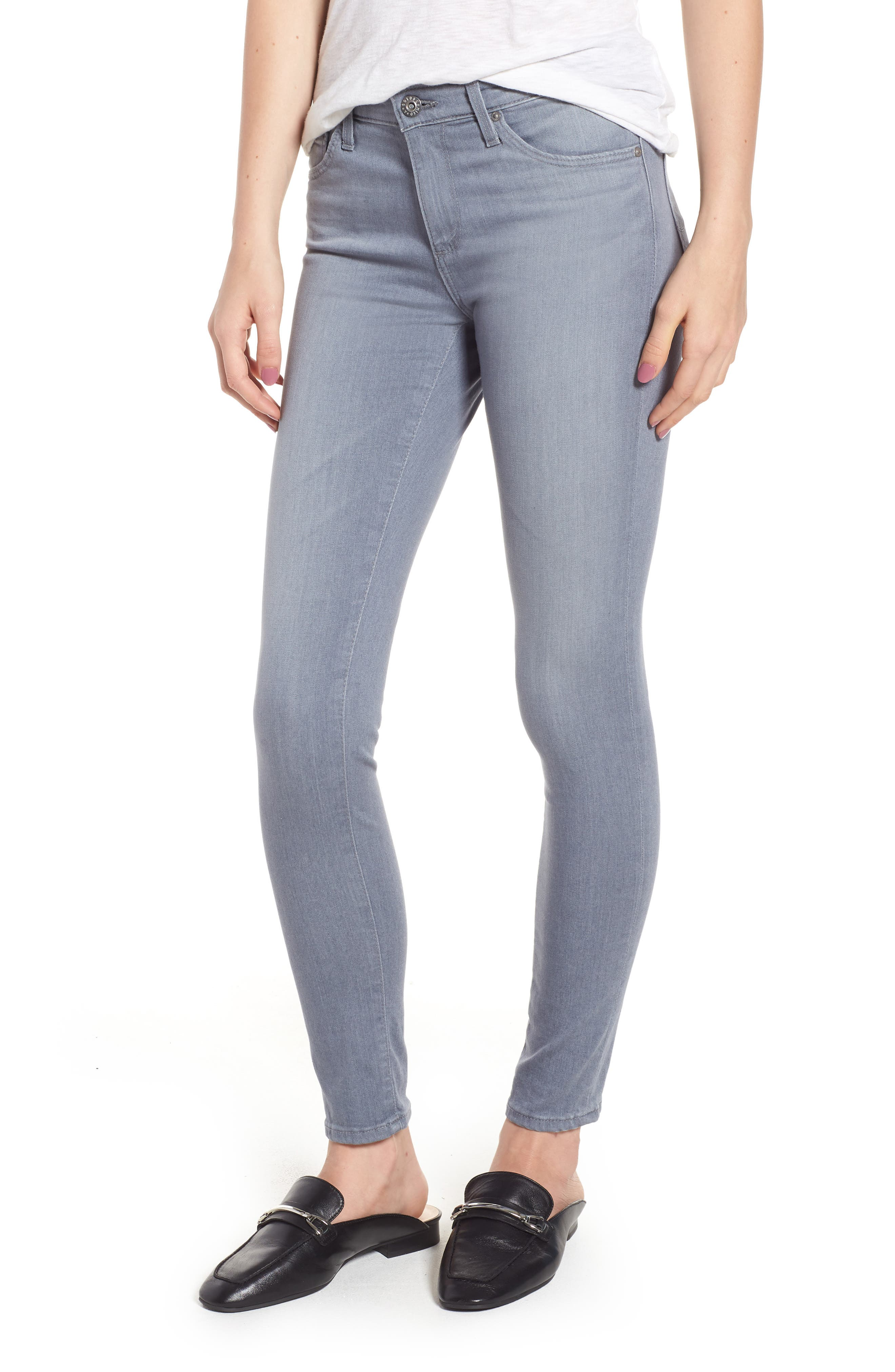 Ankle 'The Legging' Super Skinny Jeans,                             Main thumbnail 1, color,                             Valley Smoke