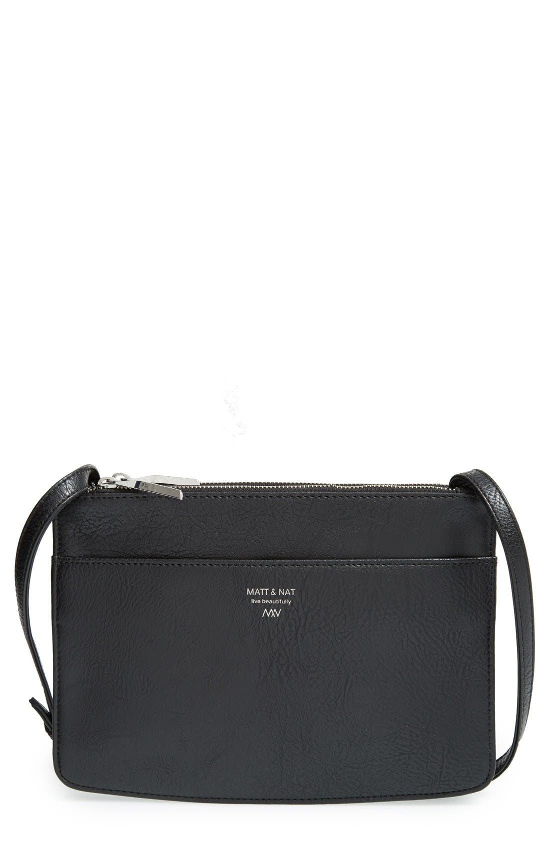 Alternate Image 1 Selected - Matt & Nat 'Gil' Vegan Leather Crossbody Bag