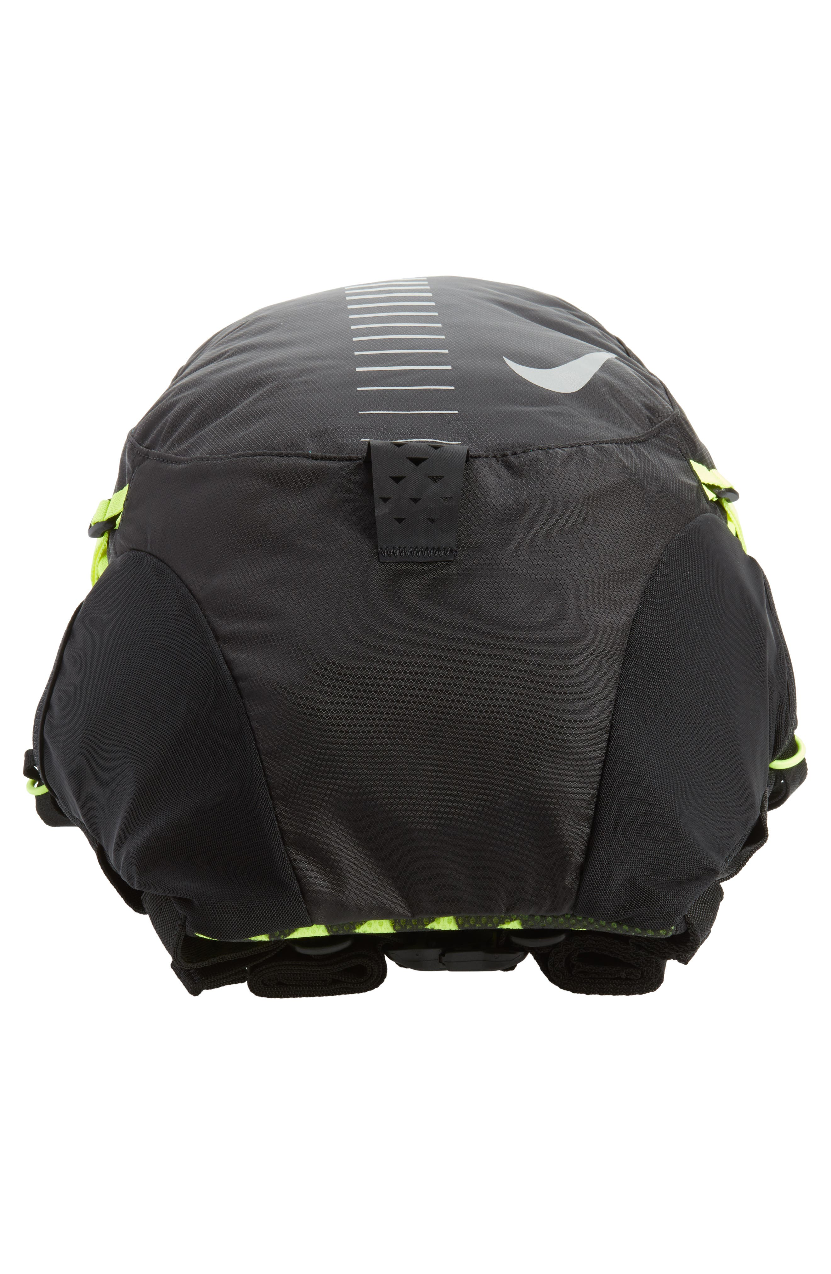 Run Commuter Backpack,                             Alternate thumbnail 6, color,                             Black/ Volt/ Silver
