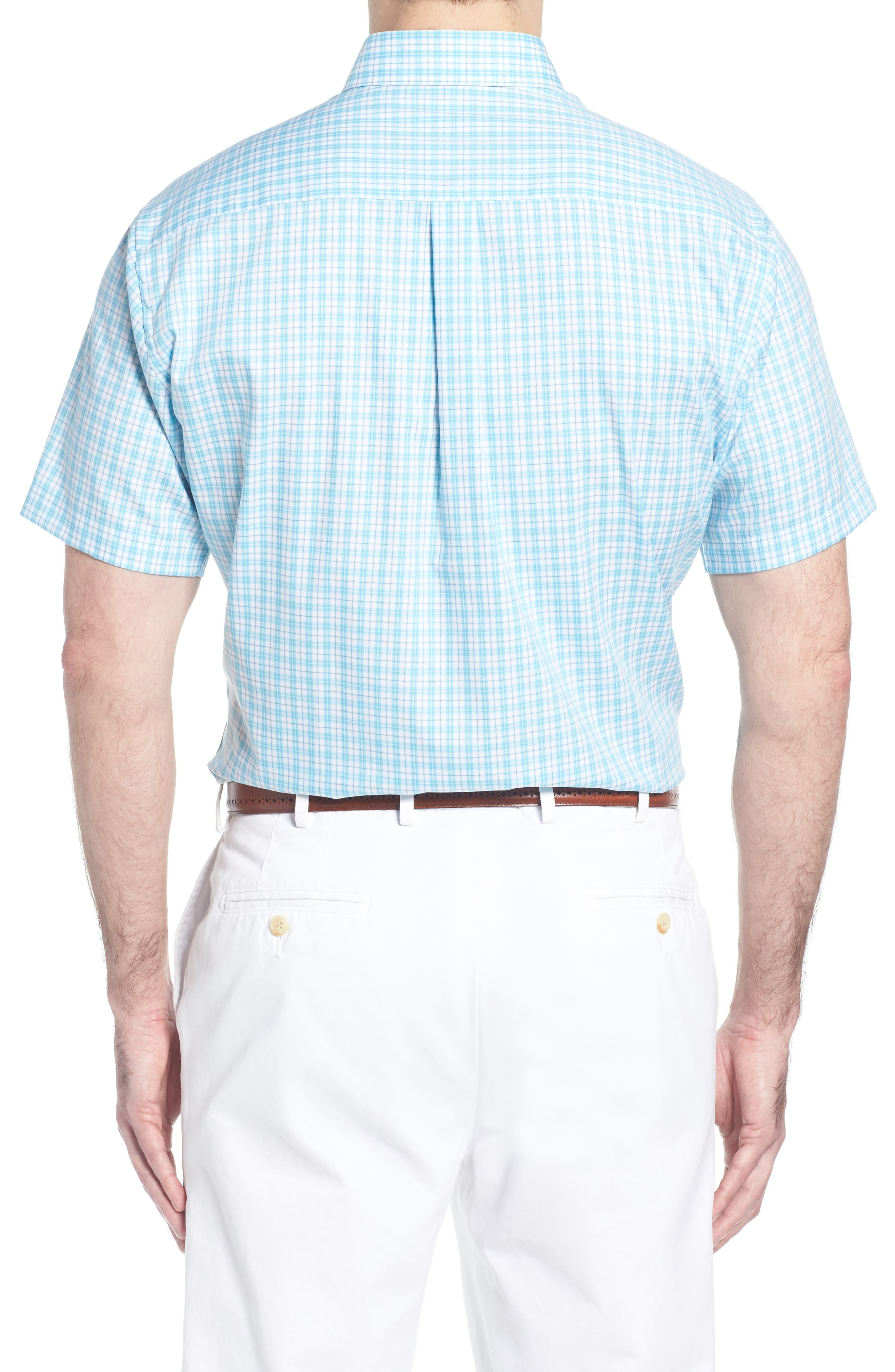 Crown Ease Eventide Check Sport Shirt,                             Alternate thumbnail 3, color,                             Blue Fish