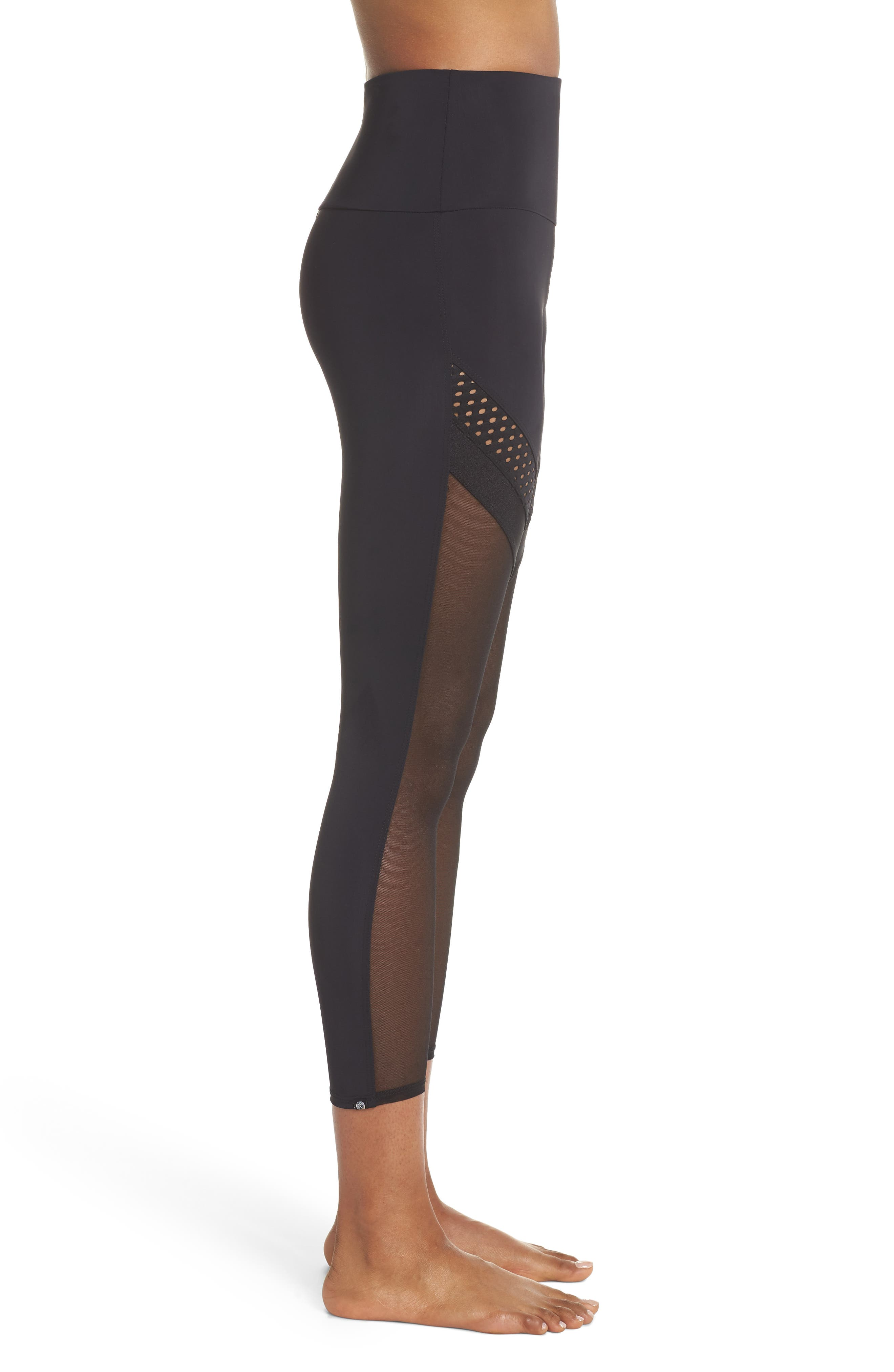 Chrome Leggings,                             Alternate thumbnail 3, color,                             Black