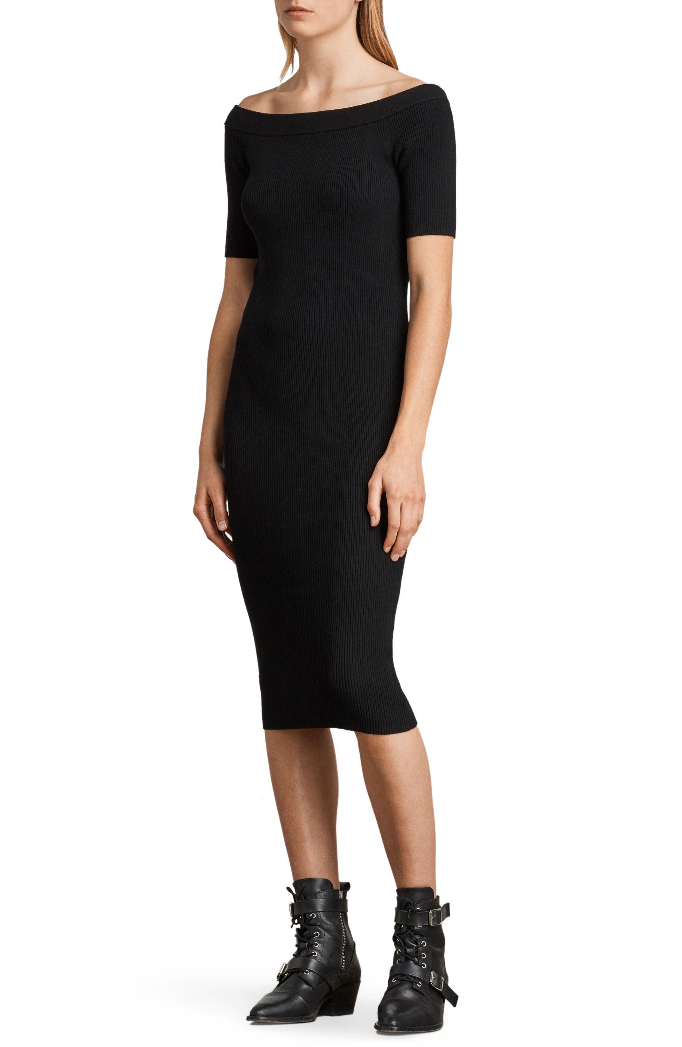 Lavine Bandeau Dress,                             Alternate thumbnail 3, color,                             Black