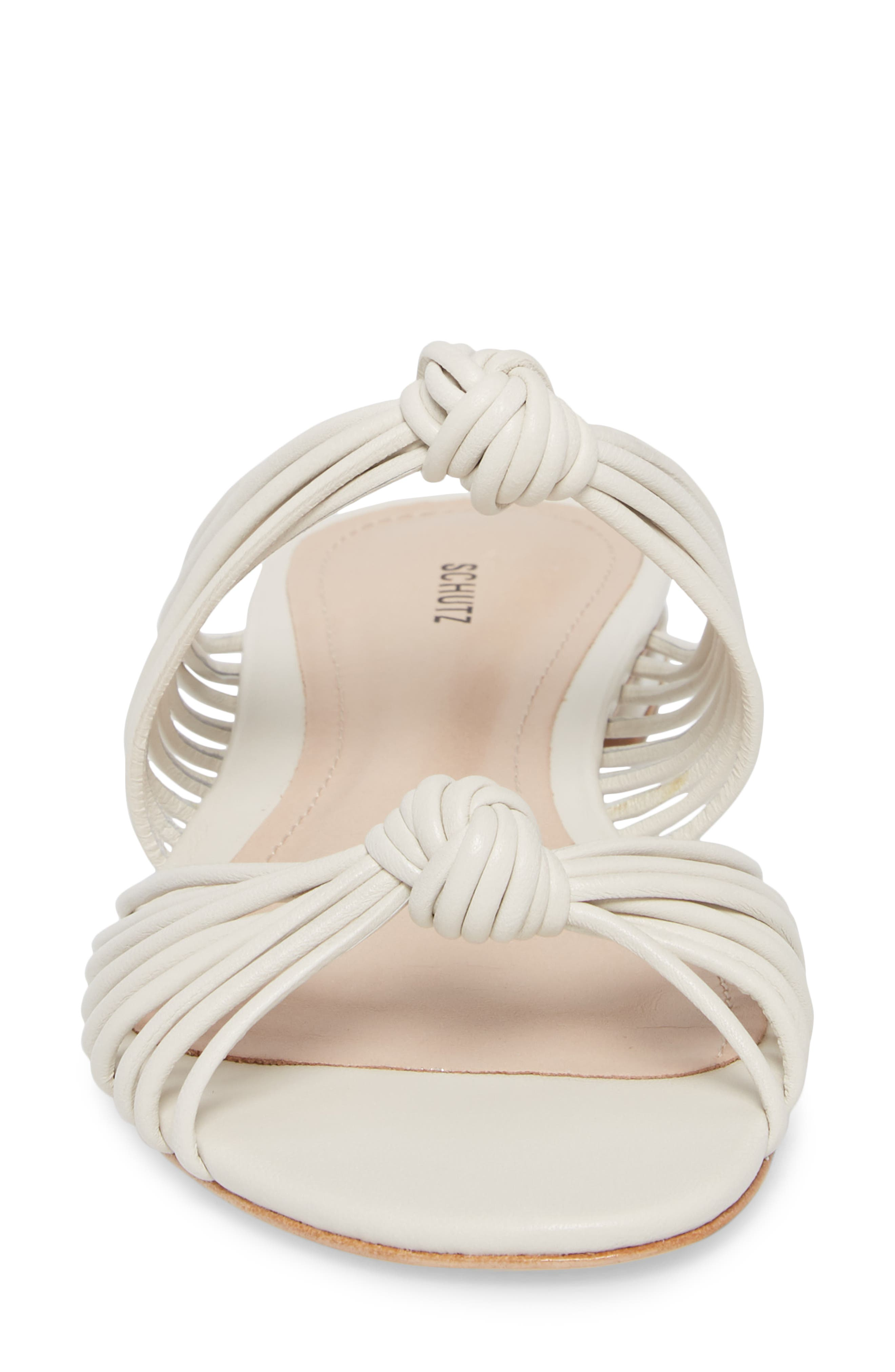 Nitiely Slide Sandal,                             Alternate thumbnail 4, color,                             Pearl Fabric