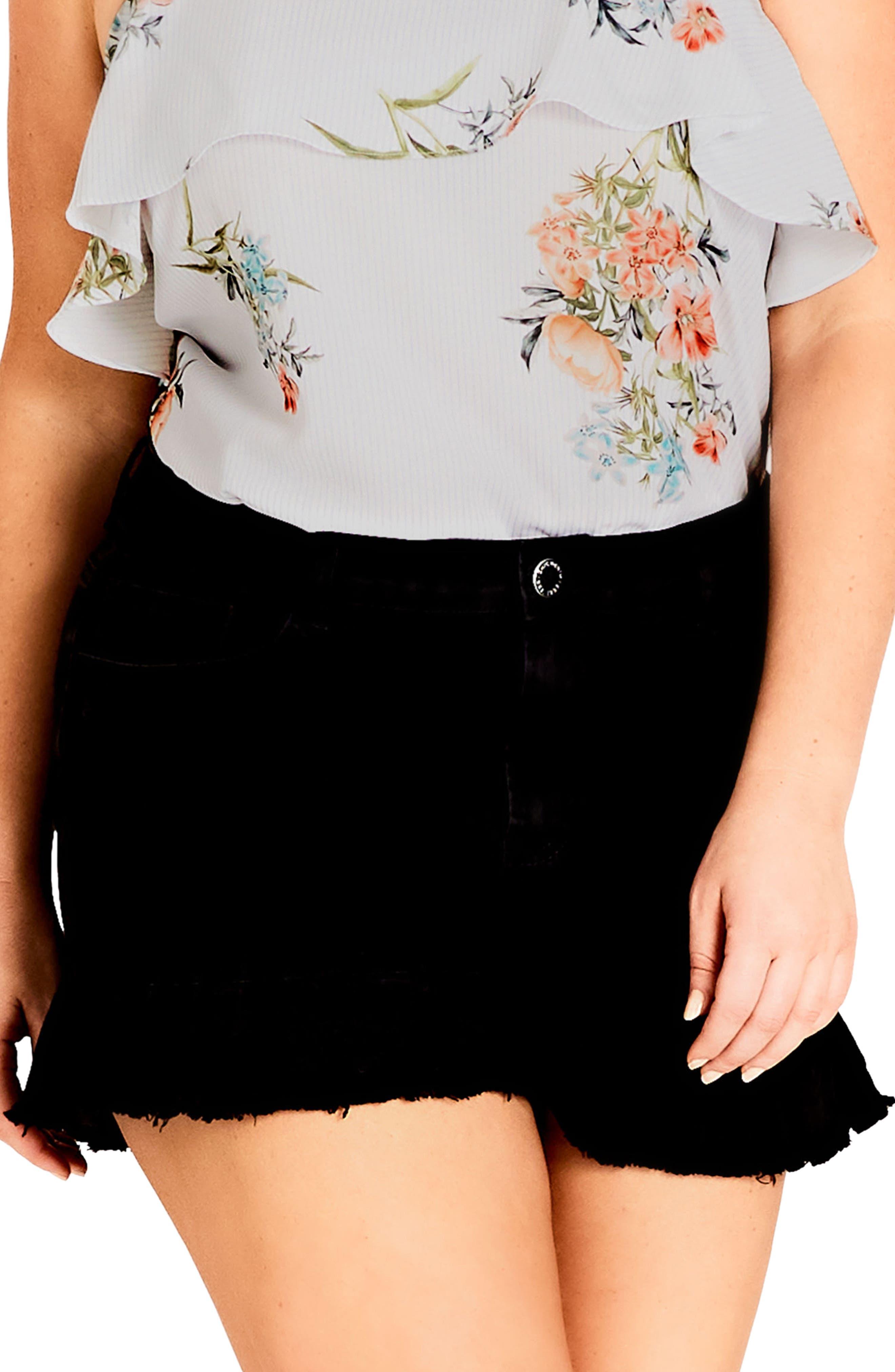 Flirty Frill Shorts,                             Main thumbnail 1, color,                             Black