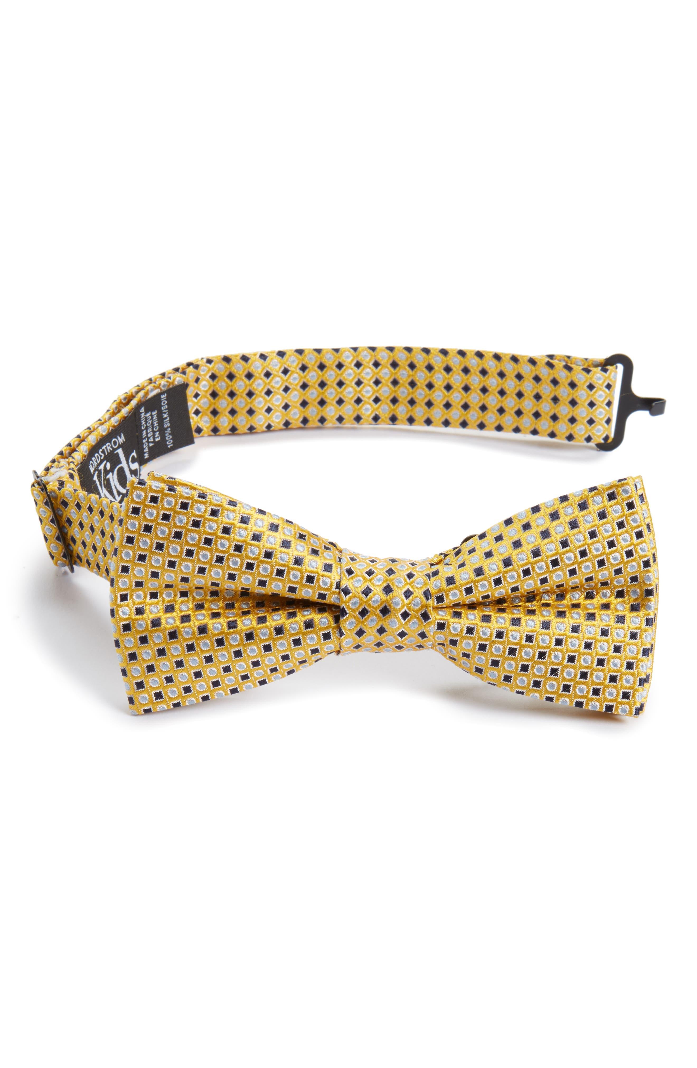 Diamonds & Dots Silk Bow Tie,                             Main thumbnail 1, color,                             700