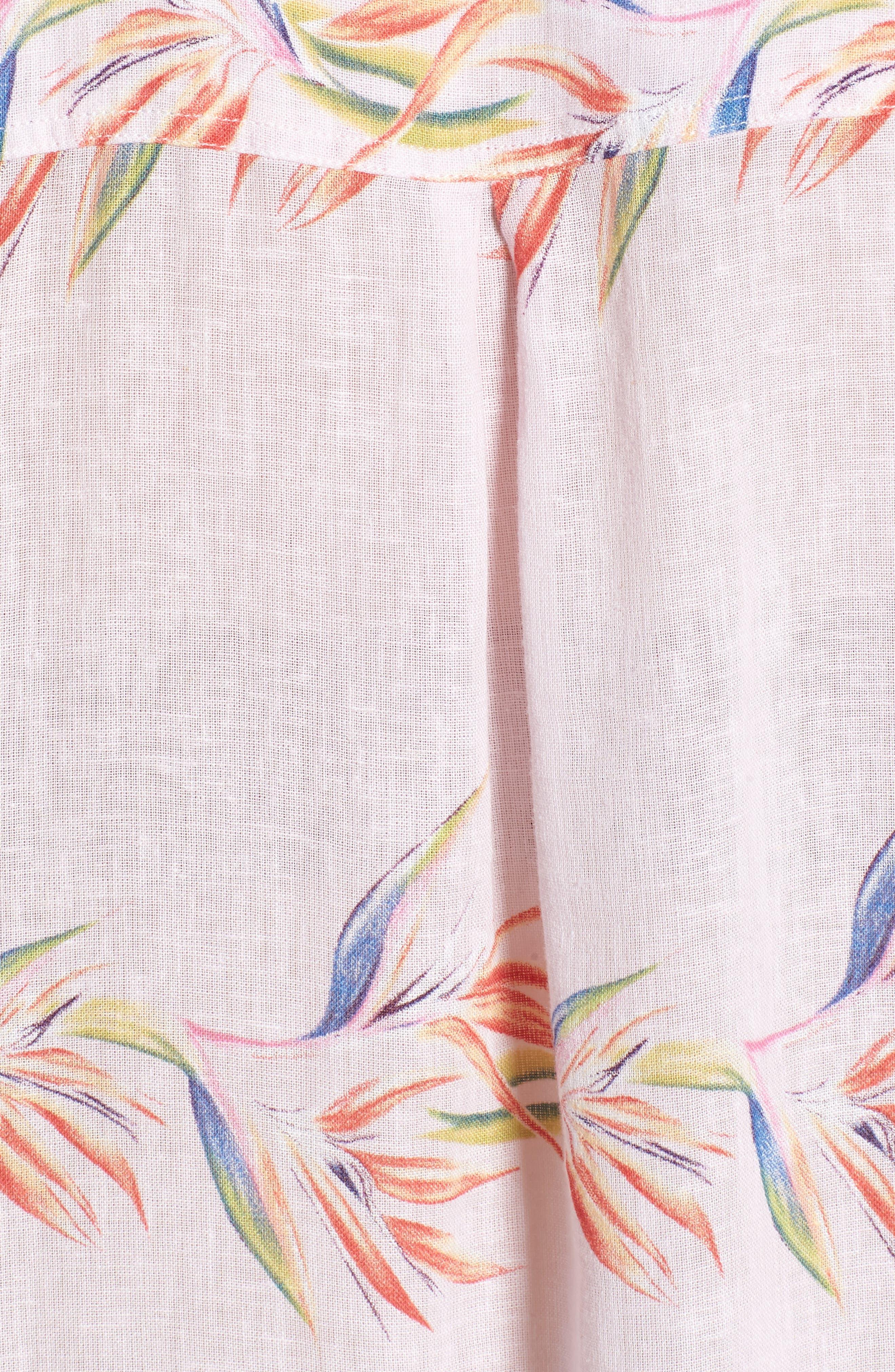 Whitney Print Shirt,                             Alternate thumbnail 6, color,                             Blush Birds Of Paradise