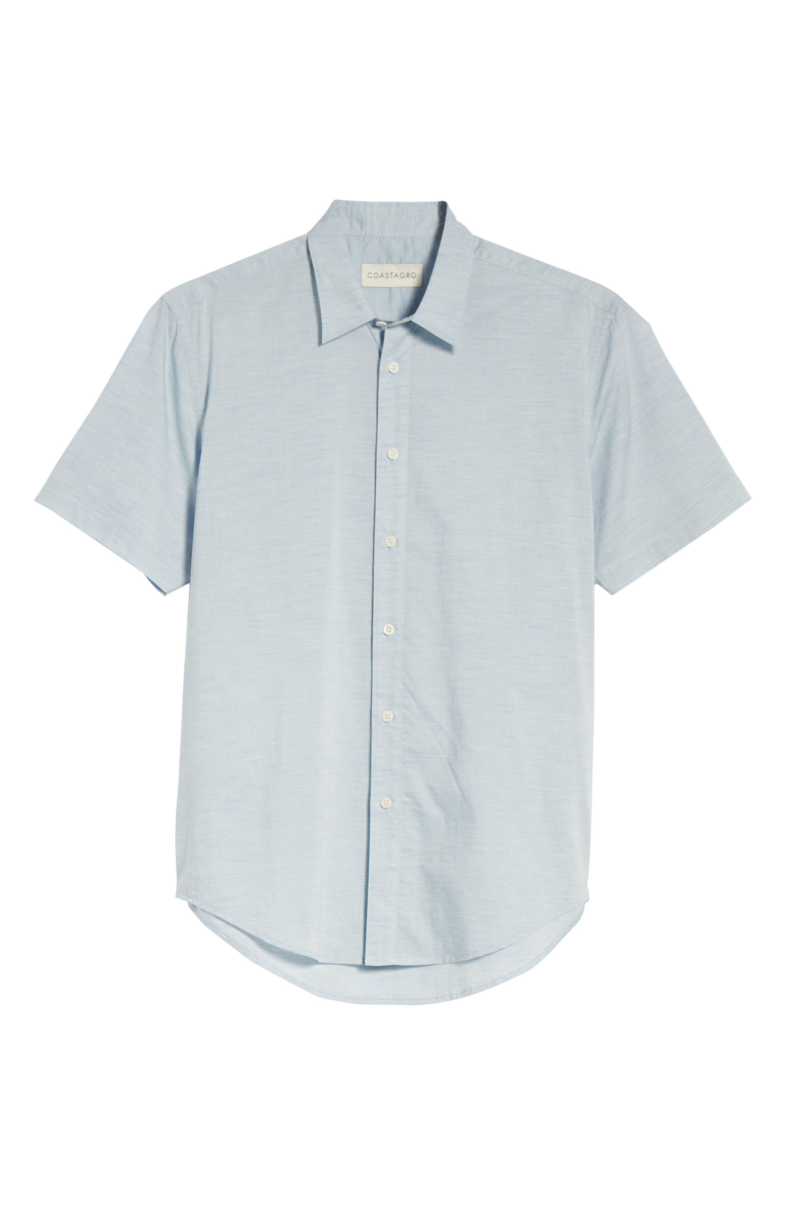 Solana Regular Fit Short Sleeve Sport Shirt,                             Alternate thumbnail 6, color,                             Blue