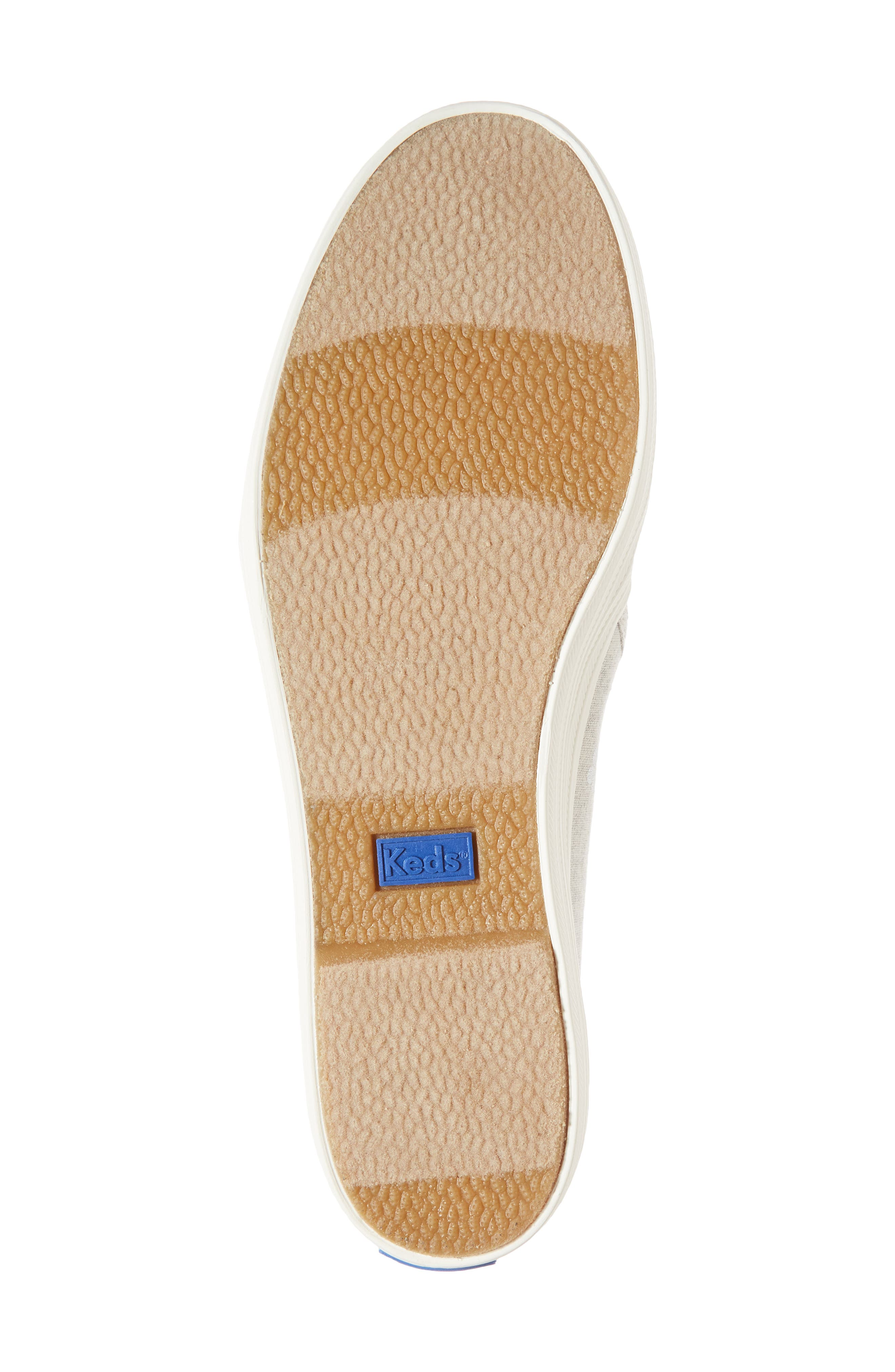 Triple Decker Hibiscus Slip-On Platform Sneaker,                             Alternate thumbnail 6, color,                             Light Grey