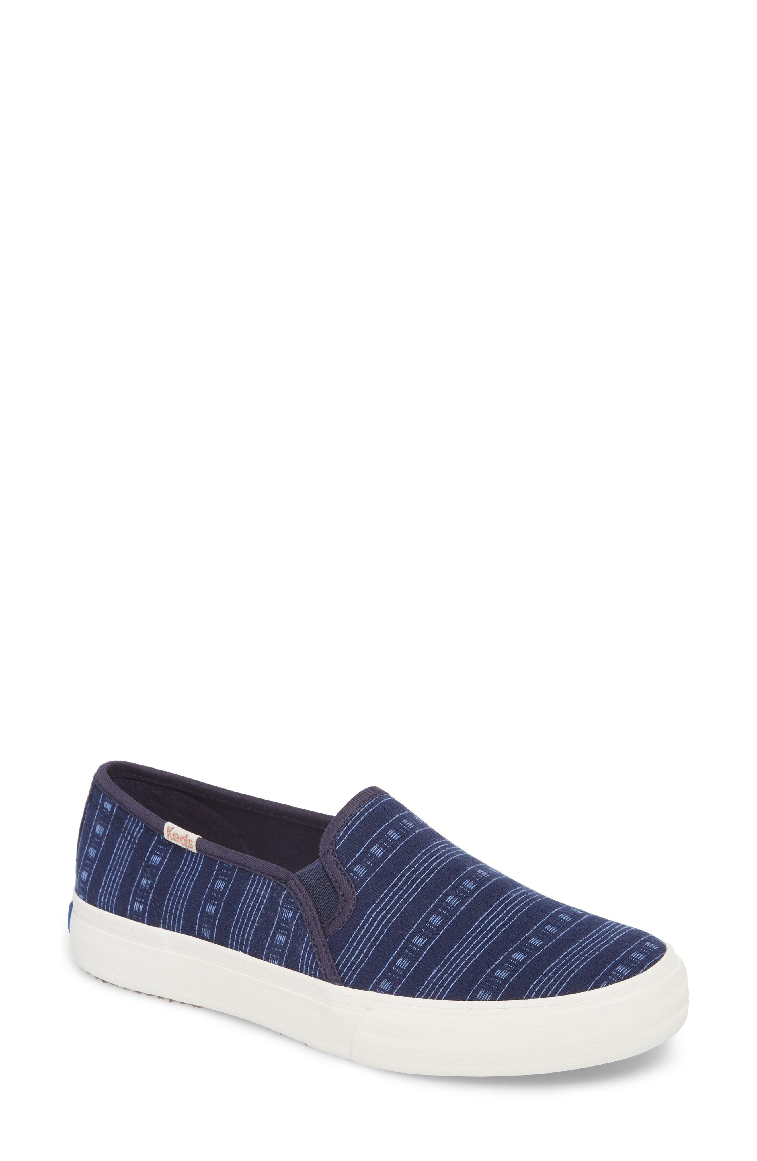 Main Image - Keds® Double Decker Summer Stripe Slip-On Sneaker (Women)