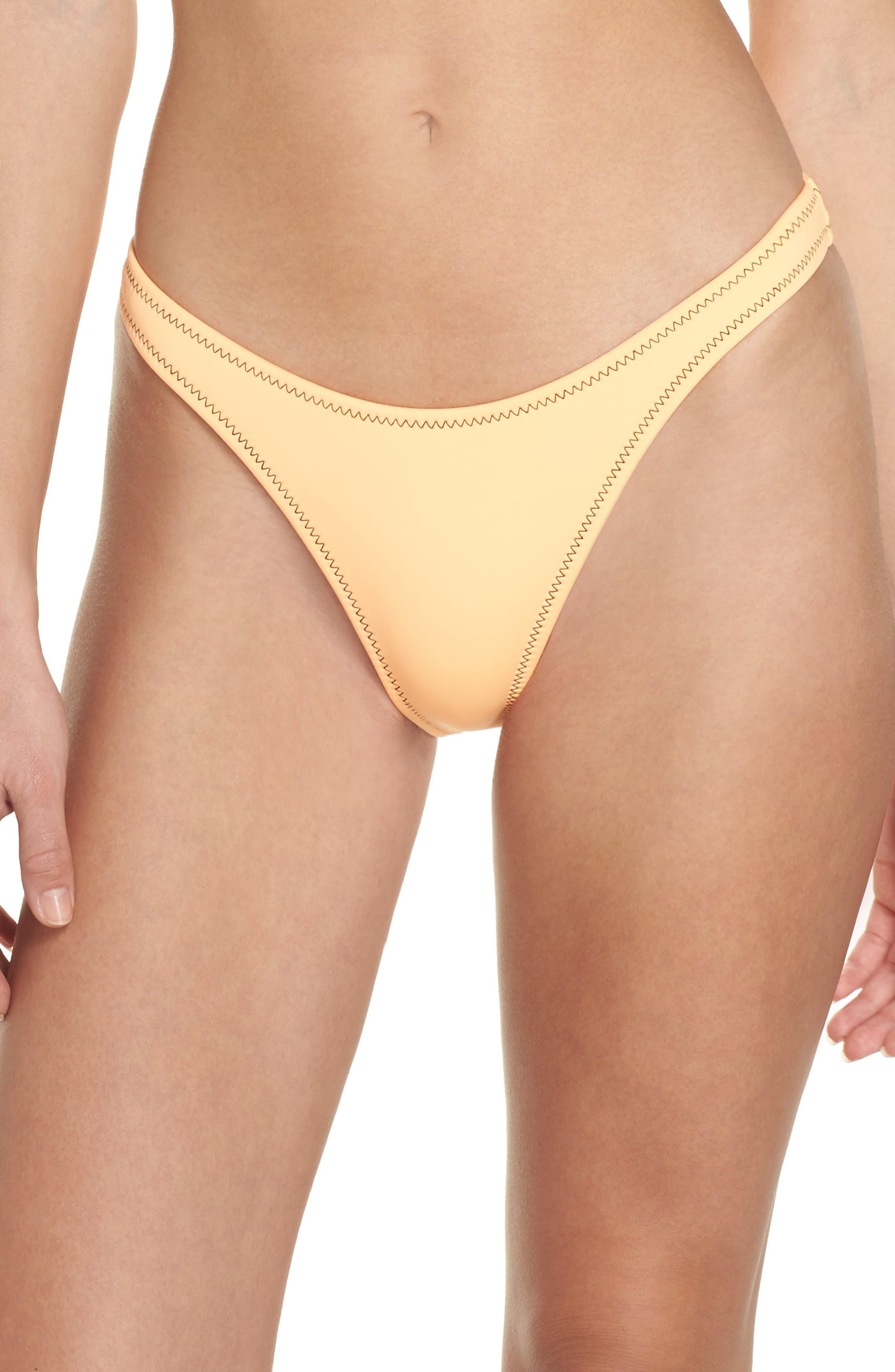 Straight Up Bikini Bottoms,                         Main,                         color, Mango