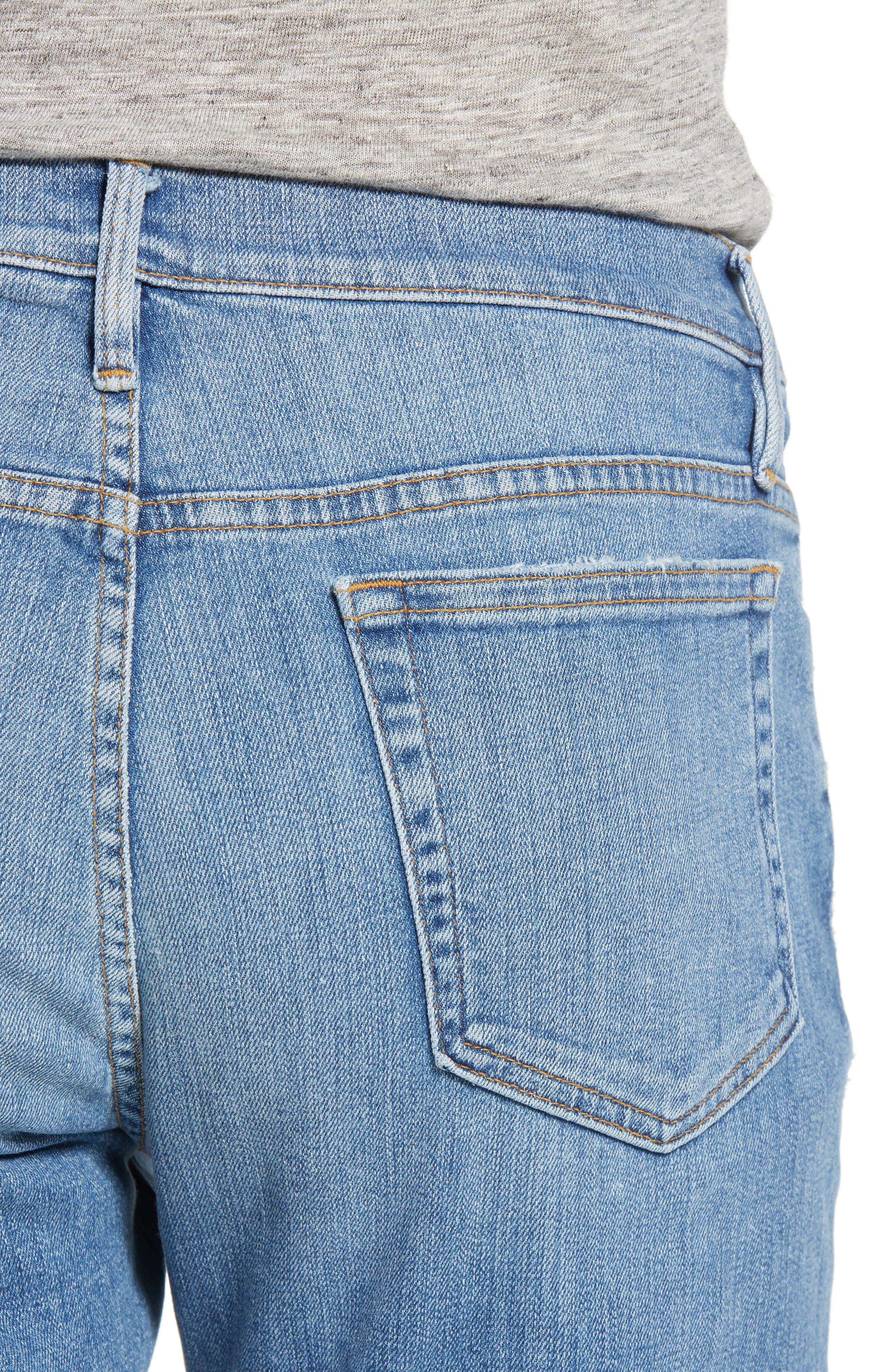L'Homme Slim Straight Fit Jeans,                             Alternate thumbnail 4, color,                             Russel Cave