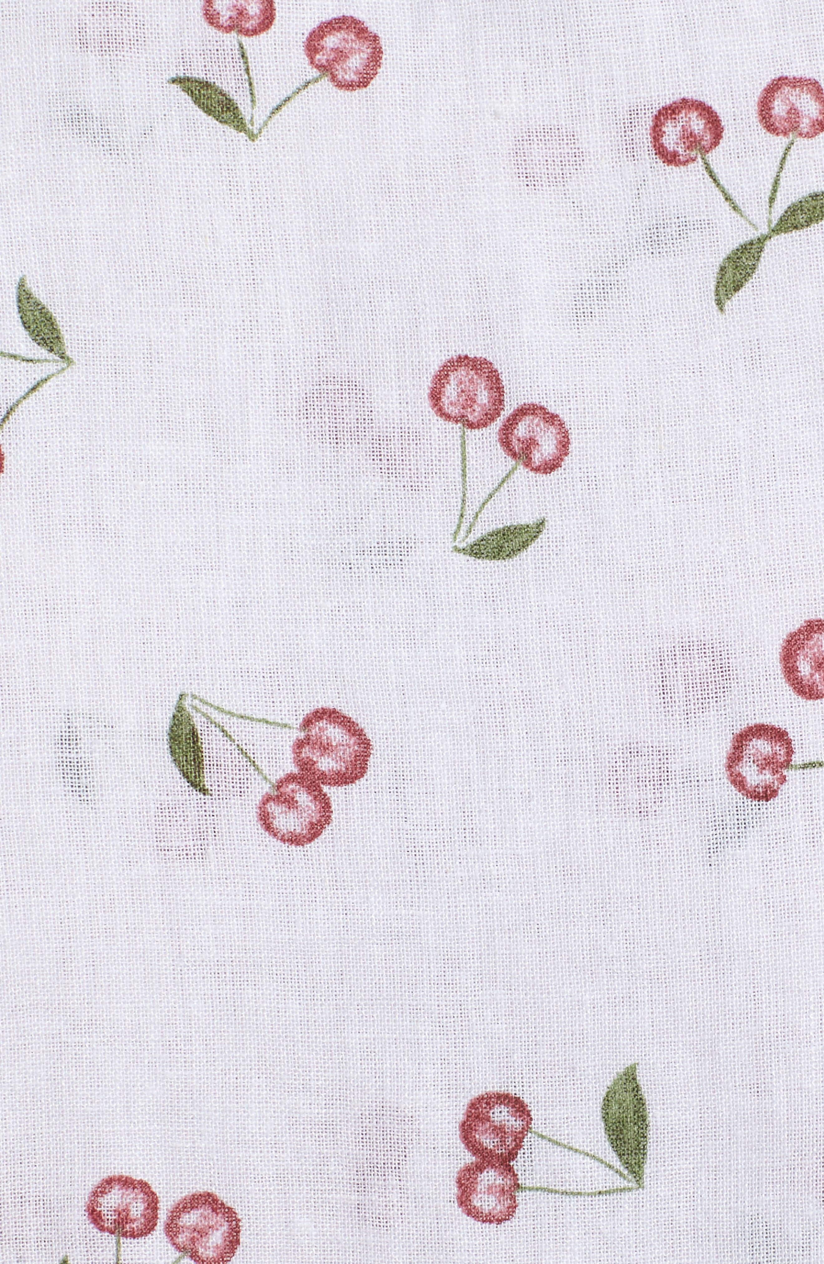 August Daisy Tie Front Dress,                             Alternate thumbnail 6, color,                             White Cherries
