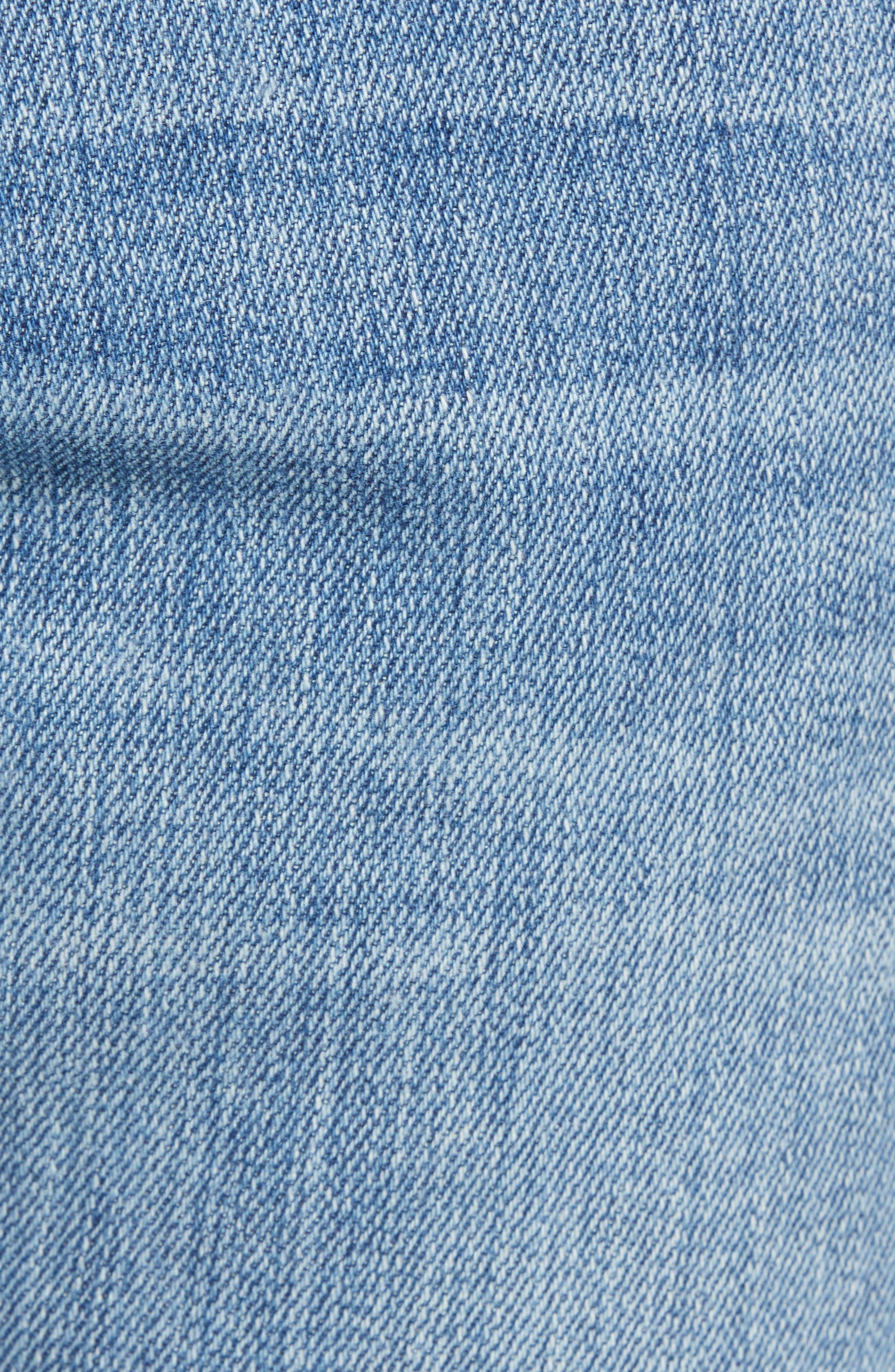 L'Homme Slim Straight Fit Jeans,                             Alternate thumbnail 5, color,                             Russel Cave