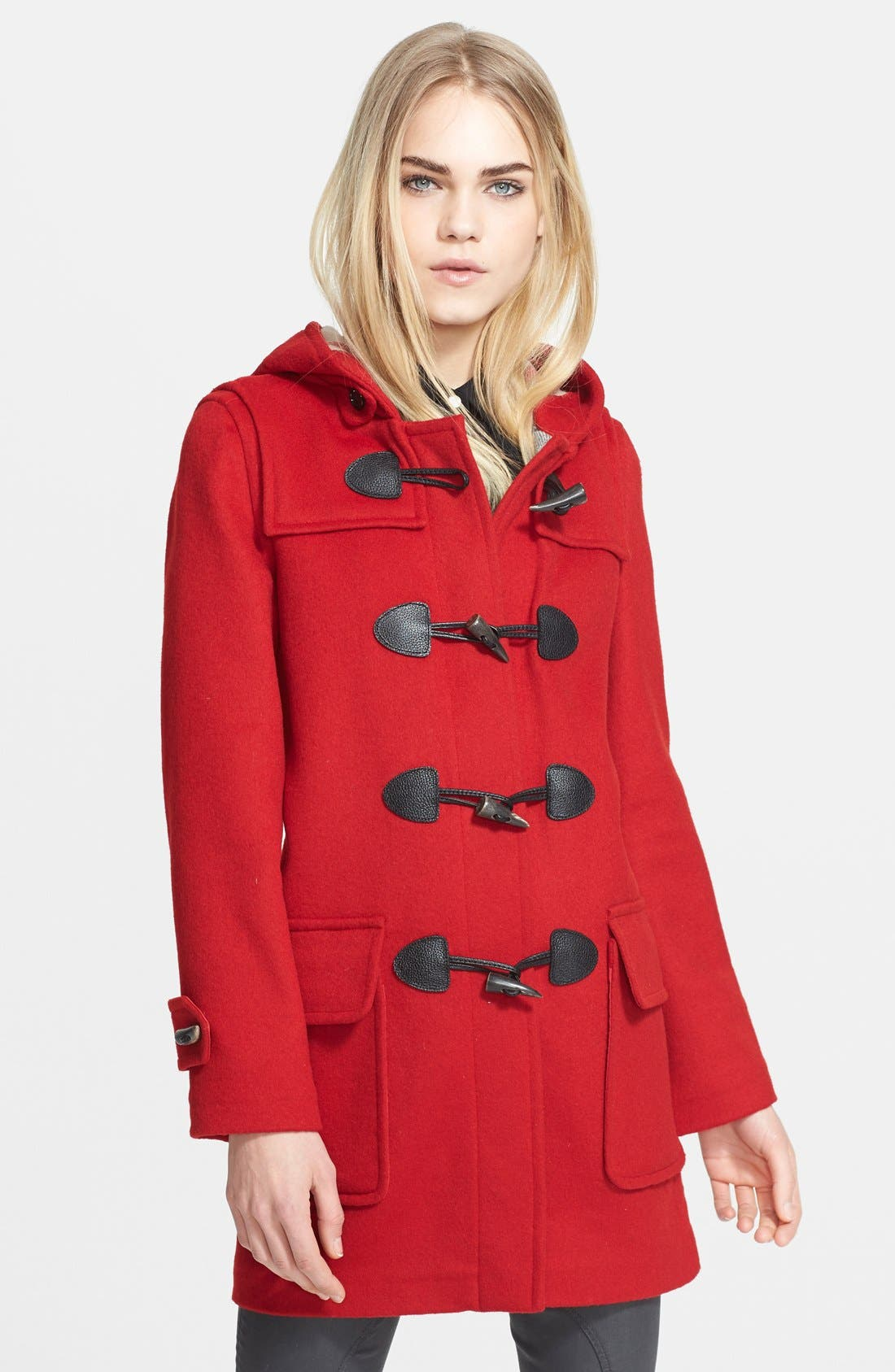 Burberry Brit Toggle Front Duffle Coat   Nordstrom