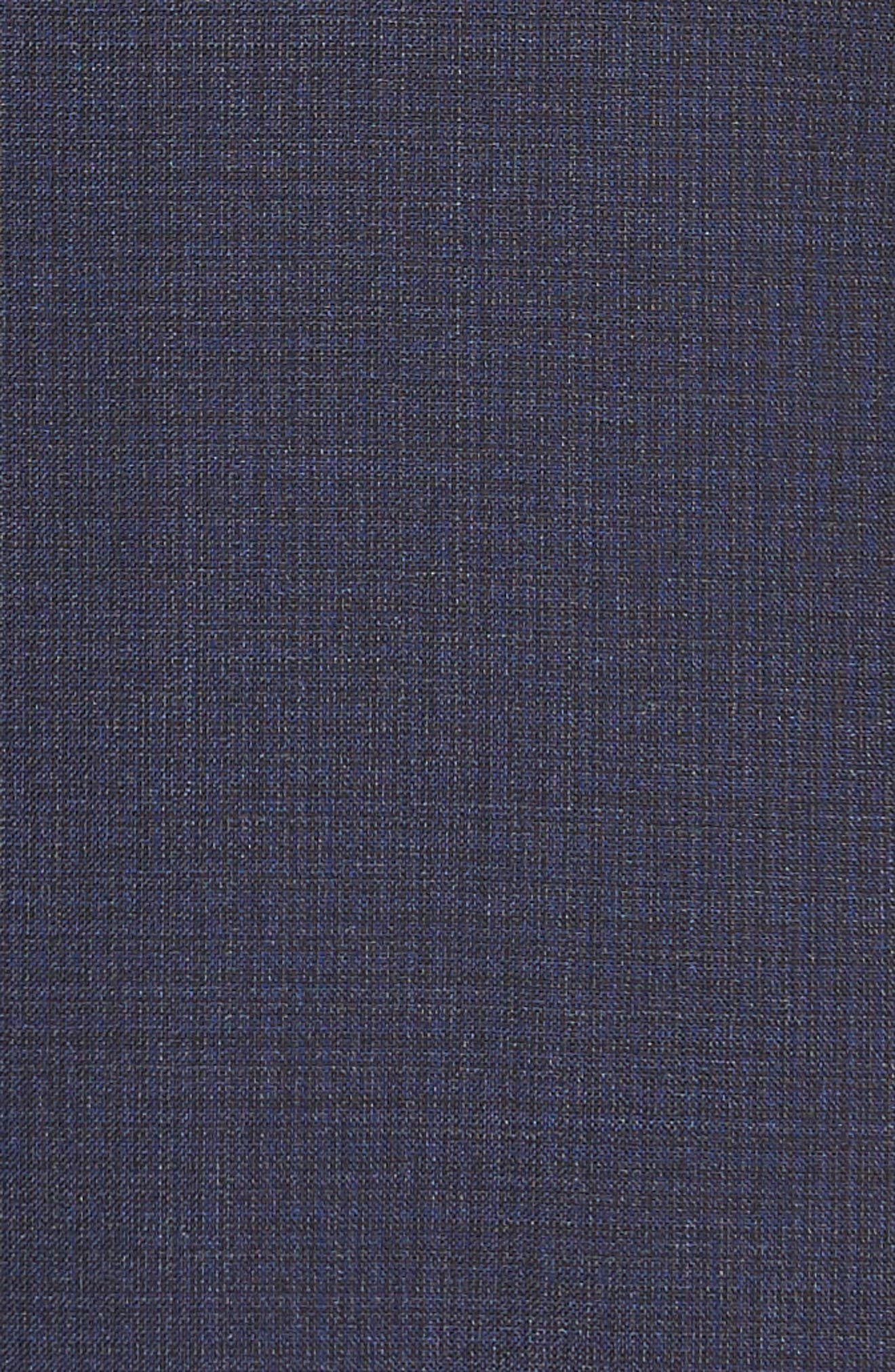 Jay Trim Fit Solid Wool Suit,                             Alternate thumbnail 7, color,                             Blue