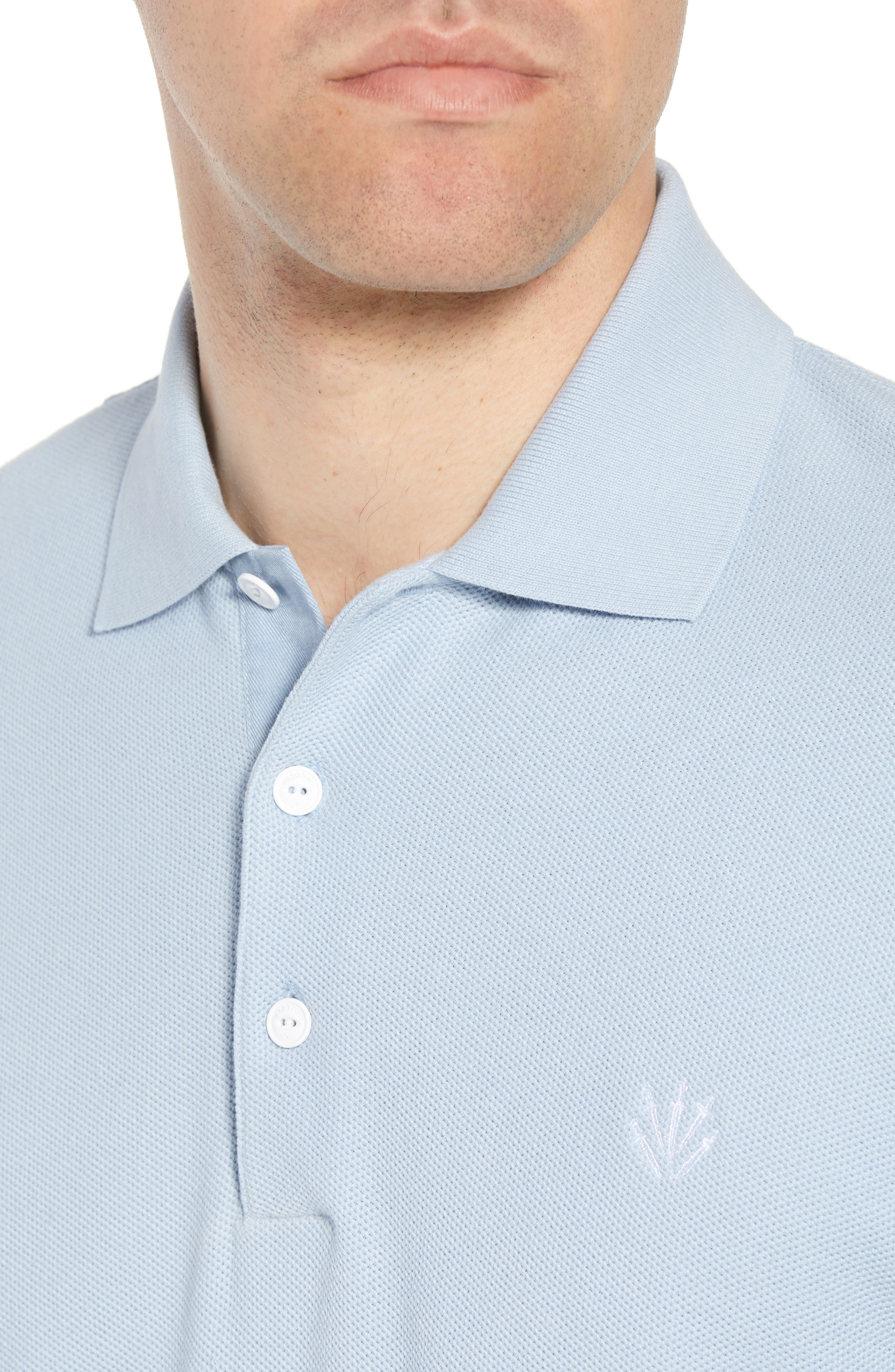 Regular Fit Polo,                             Alternate thumbnail 4, color,                             Pale Perwnkl