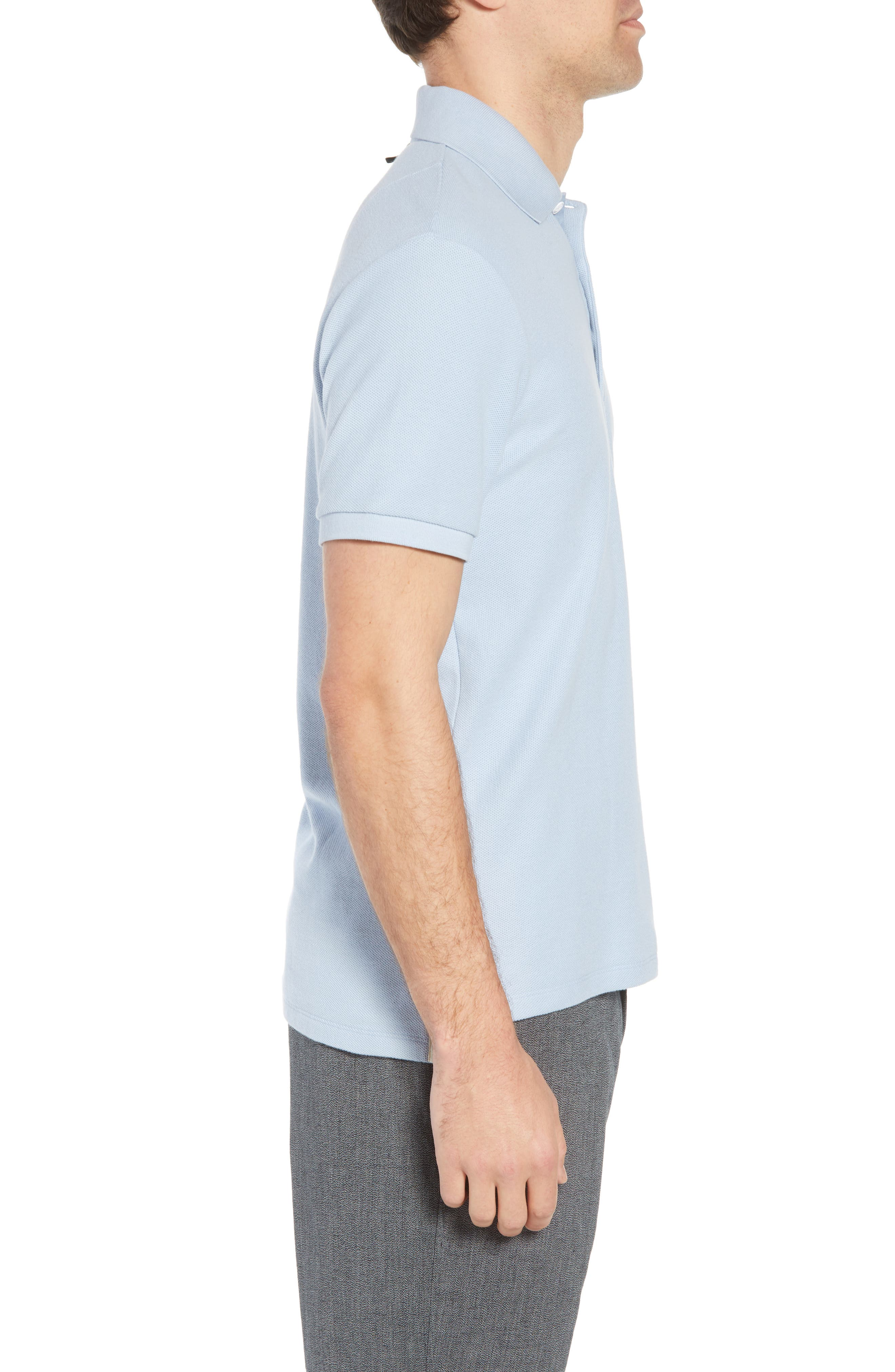 Regular Fit Polo,                             Alternate thumbnail 3, color,                             Pale Perwnkl