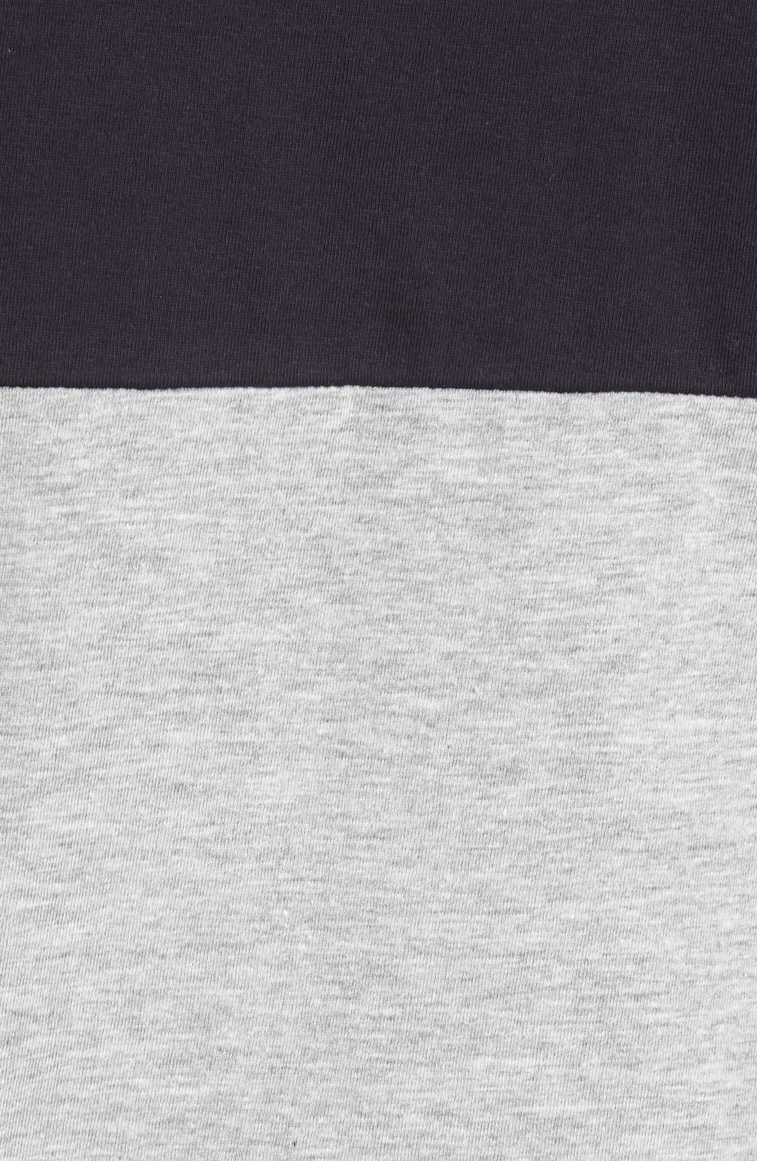 Block Crewneck T-Shirt,                             Alternate thumbnail 5, color,                             Marine Blue Light Grey