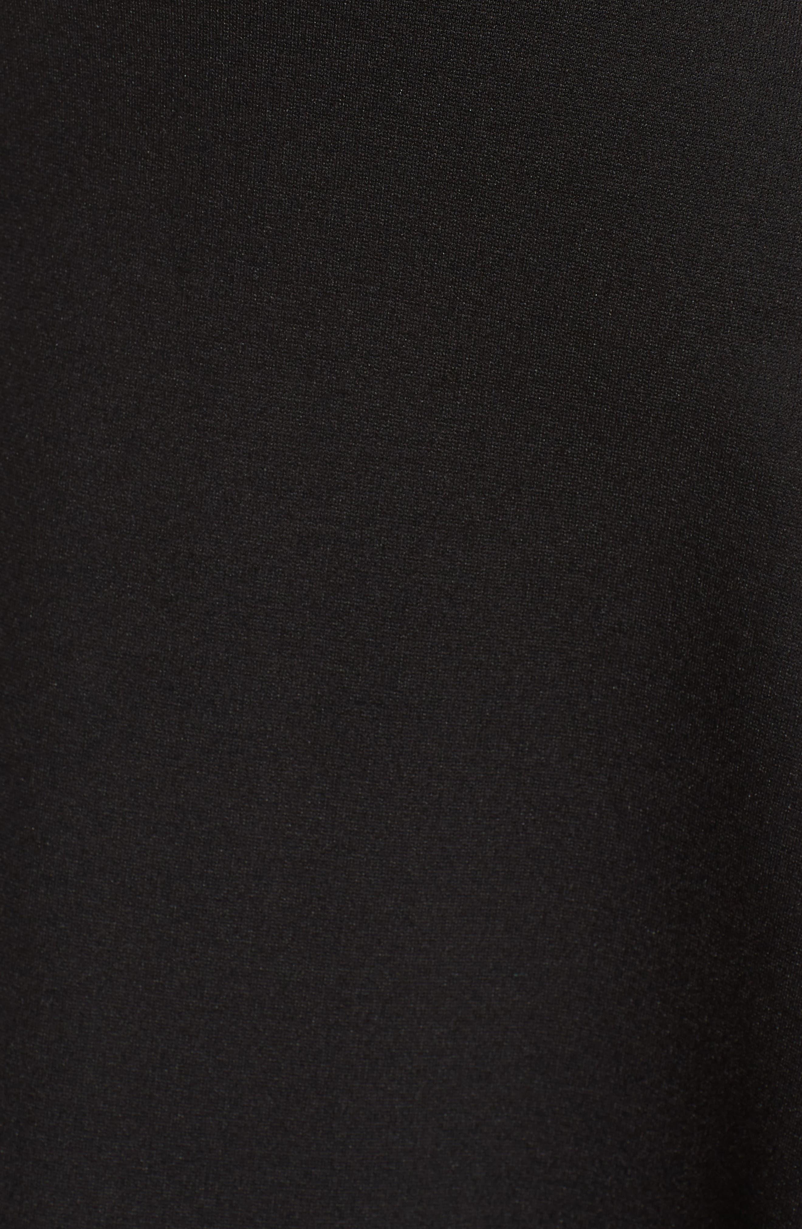 Backless Skater Dress,                             Alternate thumbnail 6, color,                             Black