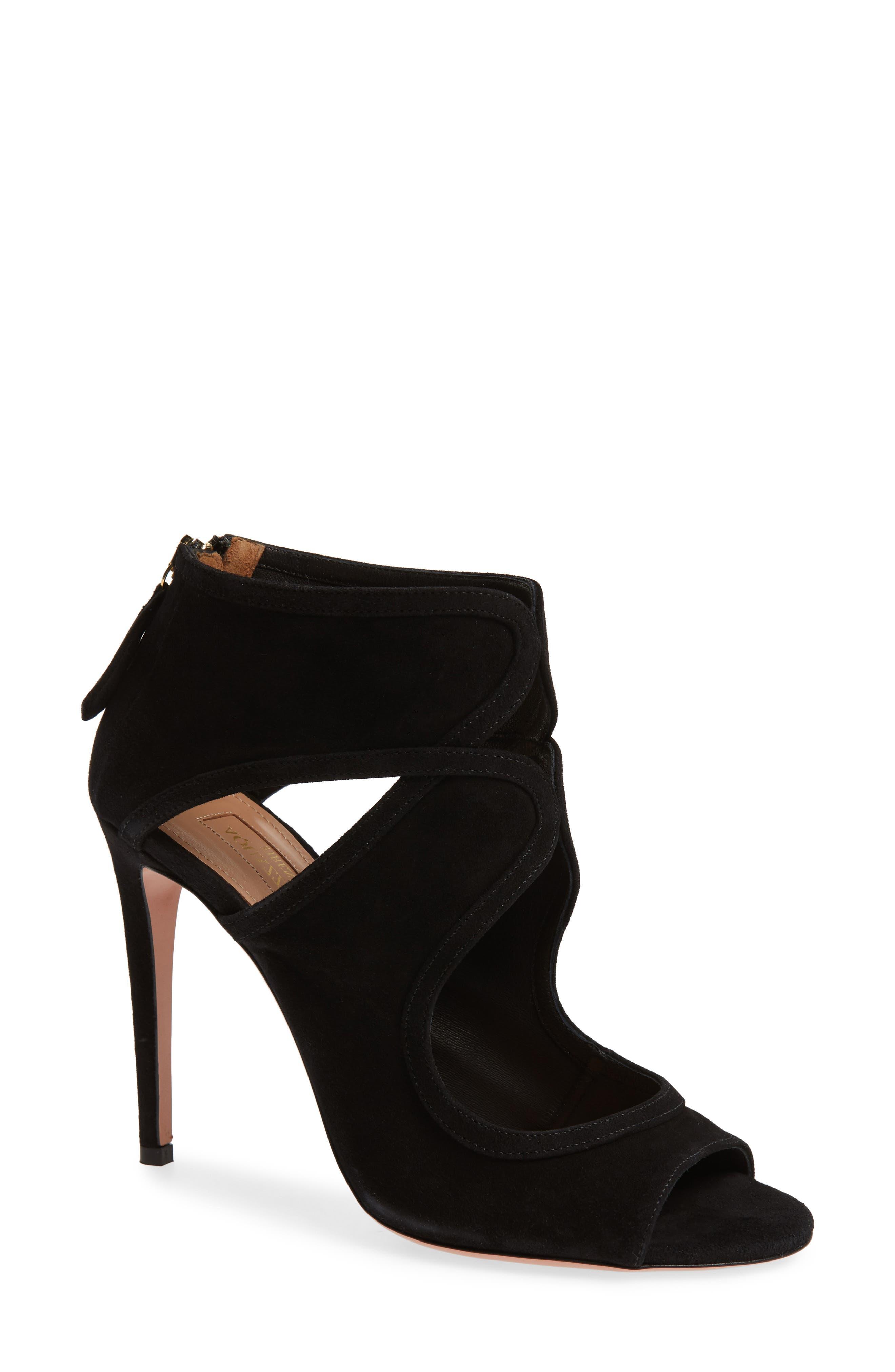 Aquazzura Antonia Cutout Shield Sandal (Women)