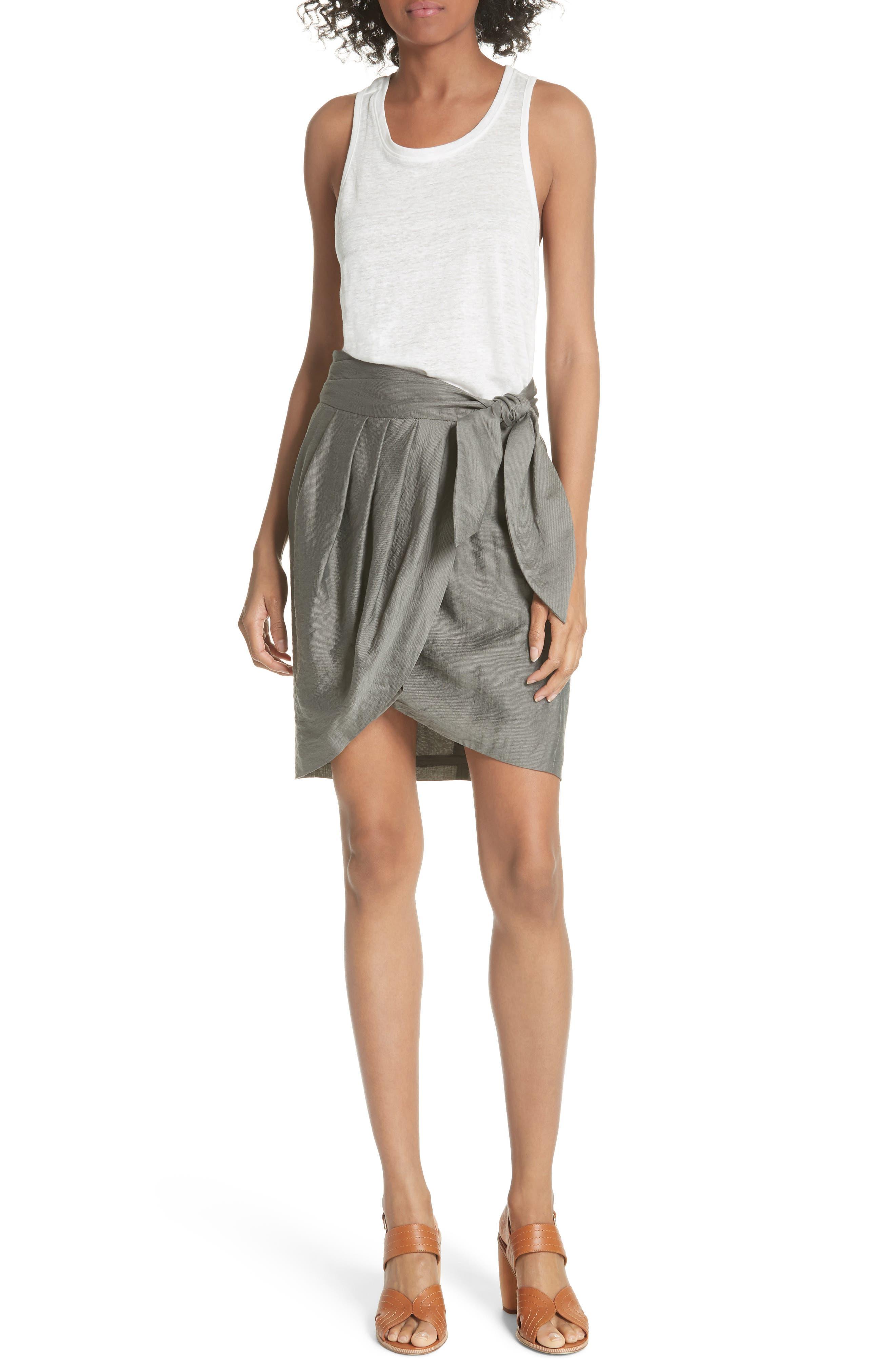 Erlecia Wrap Skirt,                             Alternate thumbnail 5, color,                             Moss
