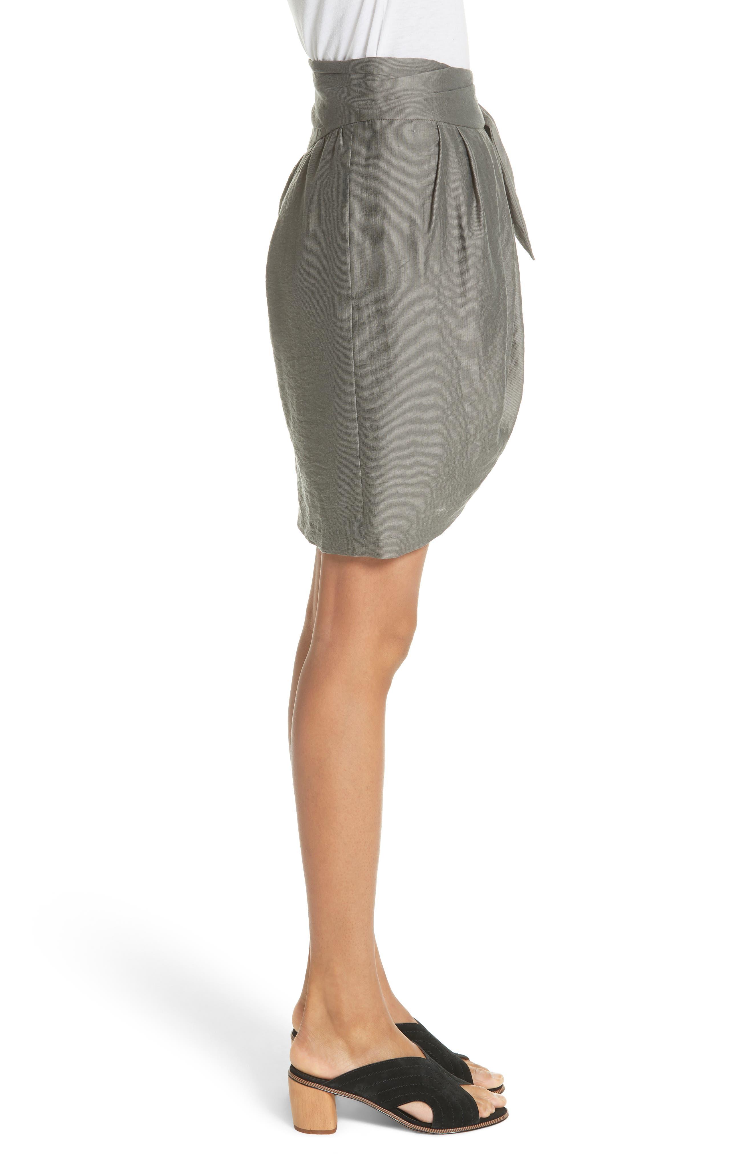 Erlecia Wrap Skirt,                             Alternate thumbnail 4, color,                             Moss
