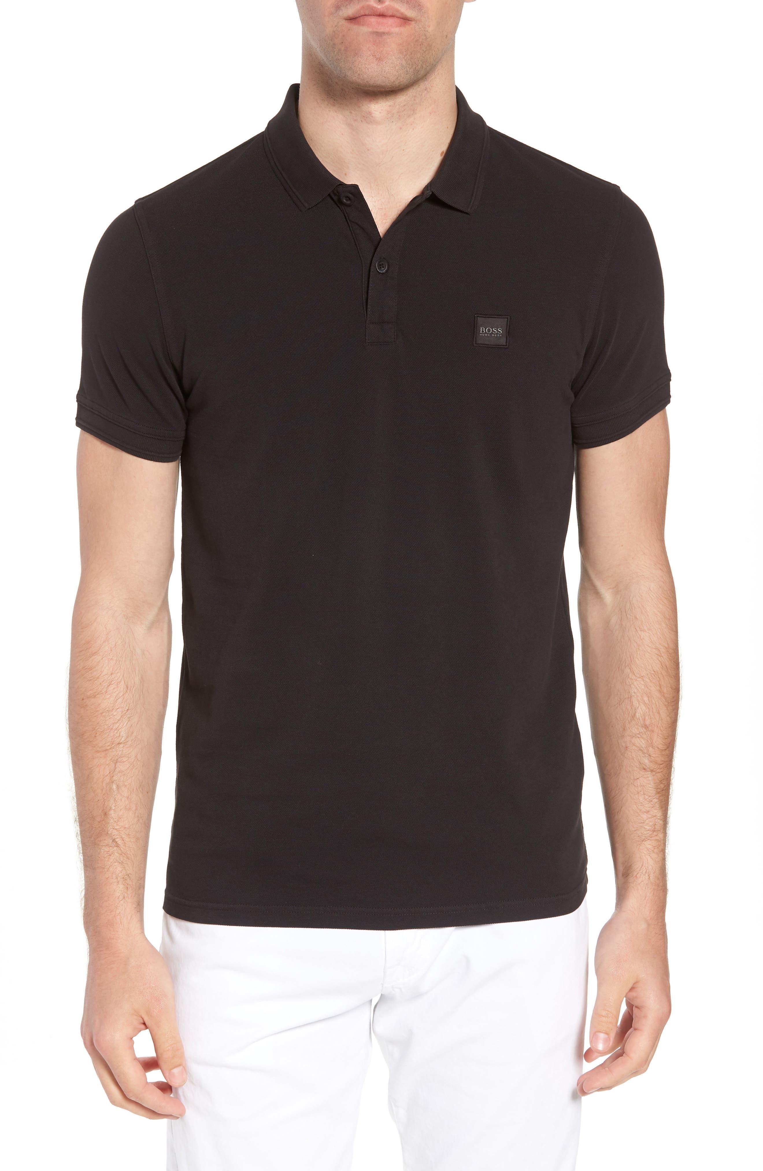 Prime Slim Fit Polo,                         Main,                         color, Black