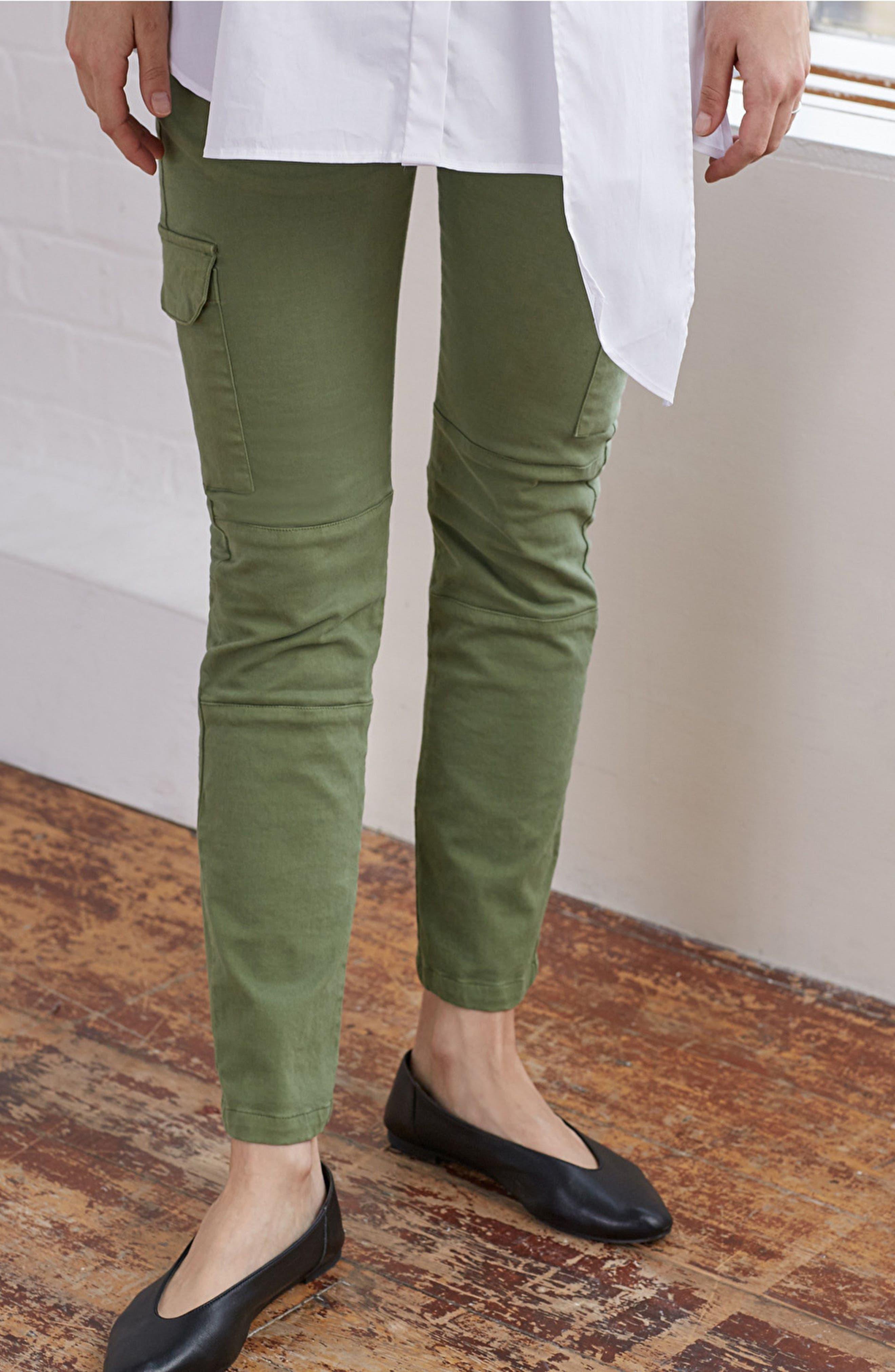 Maternity Cargo Pants,                             Alternate thumbnail 3, color,                             Dusted Khaki