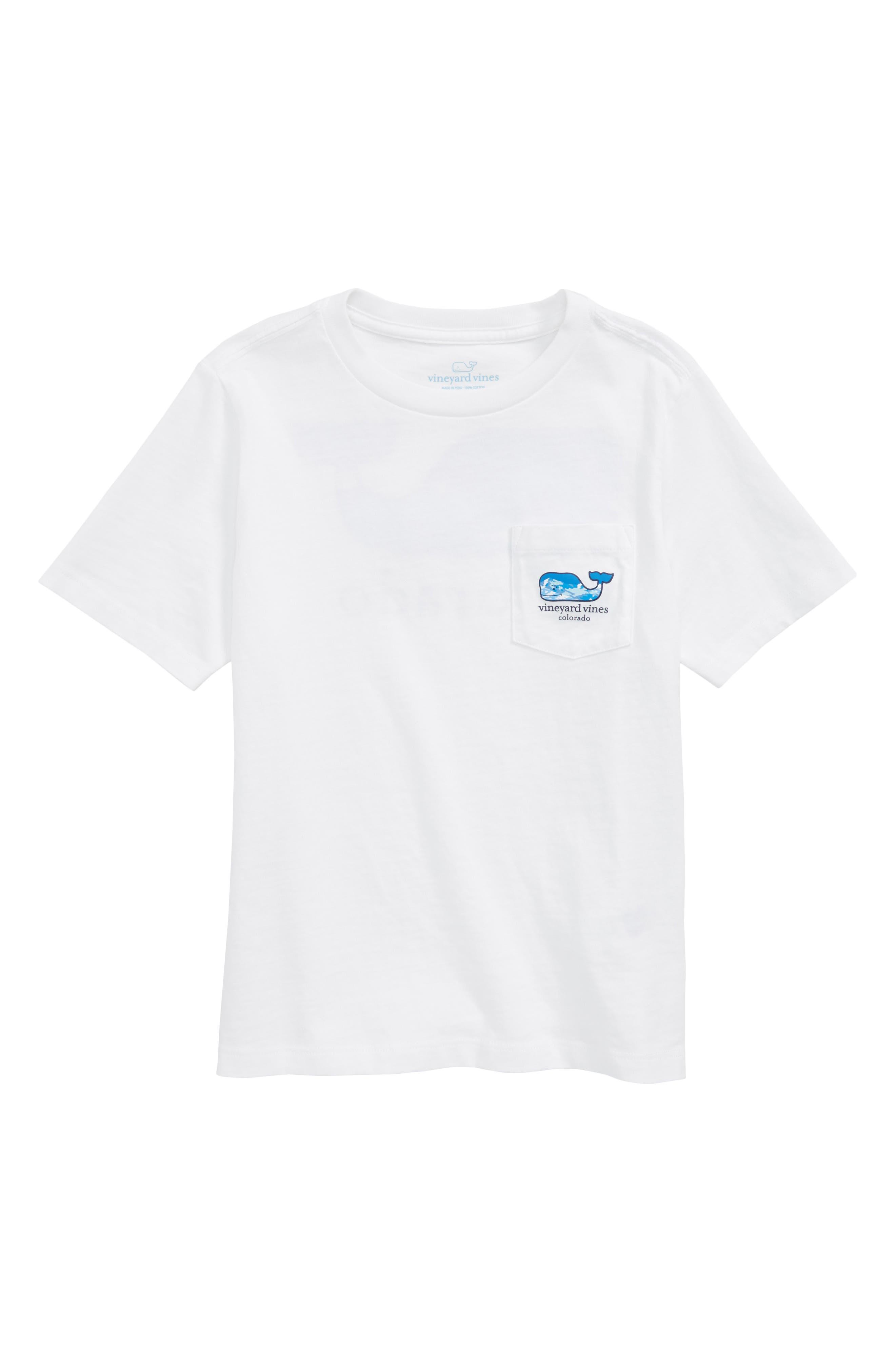 Colorado Whale Pocket T-Shirt,                         Main,                         color, White Cap